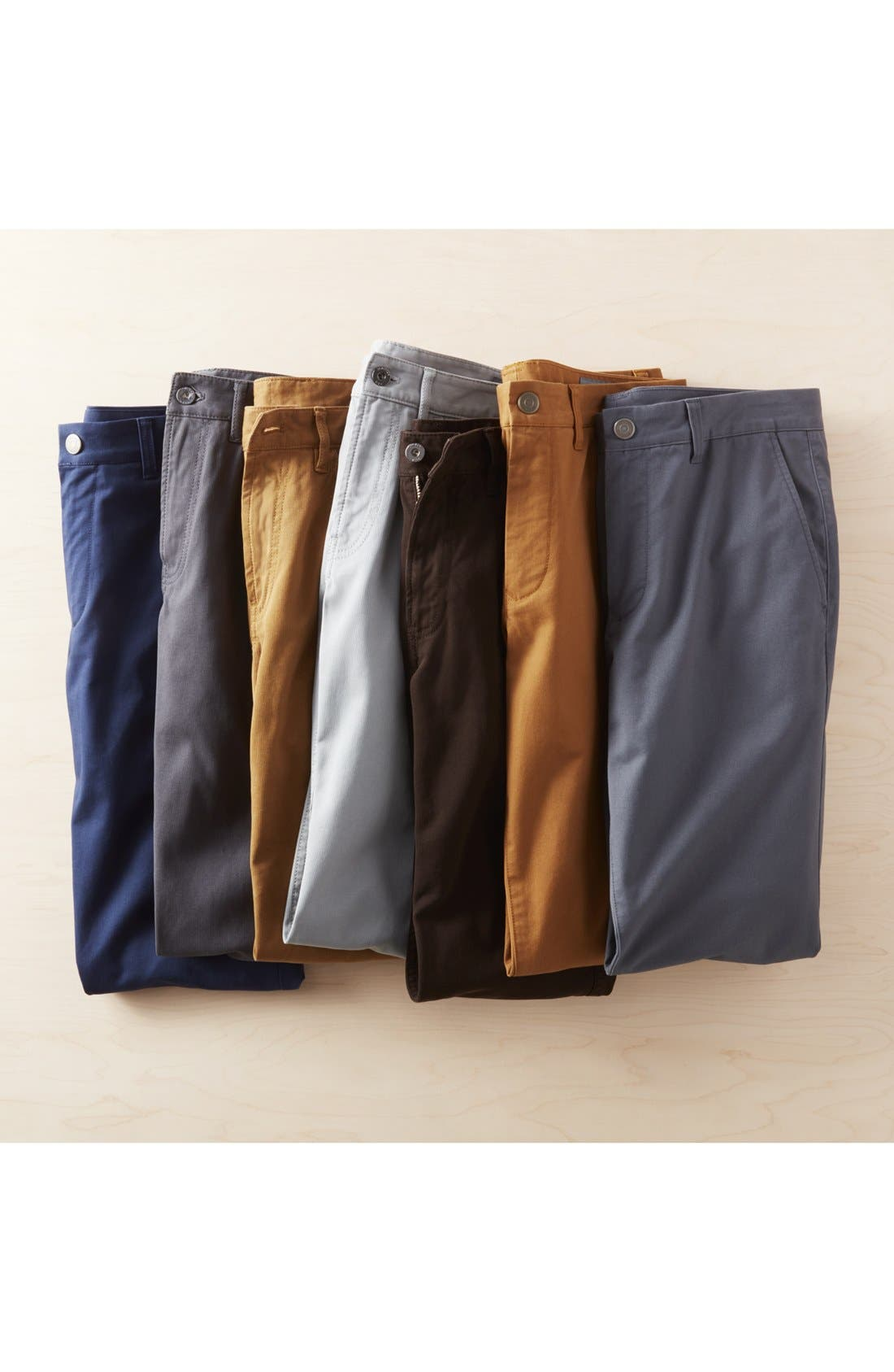 Slim Fit Stretch Washed Chinos,                             Alternate thumbnail 7, color,                             CHESTNUTS