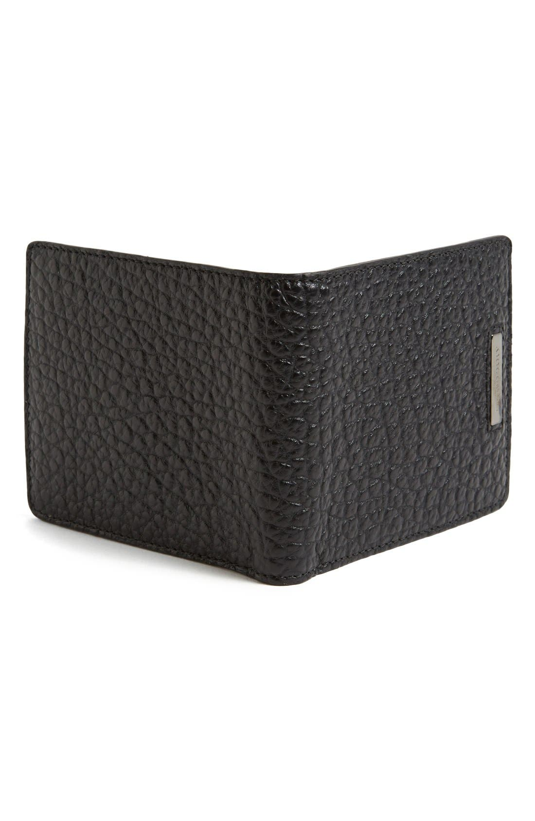 BURBERRY,                             Hipfold Wallet,                             Alternate thumbnail 2, color,                             001