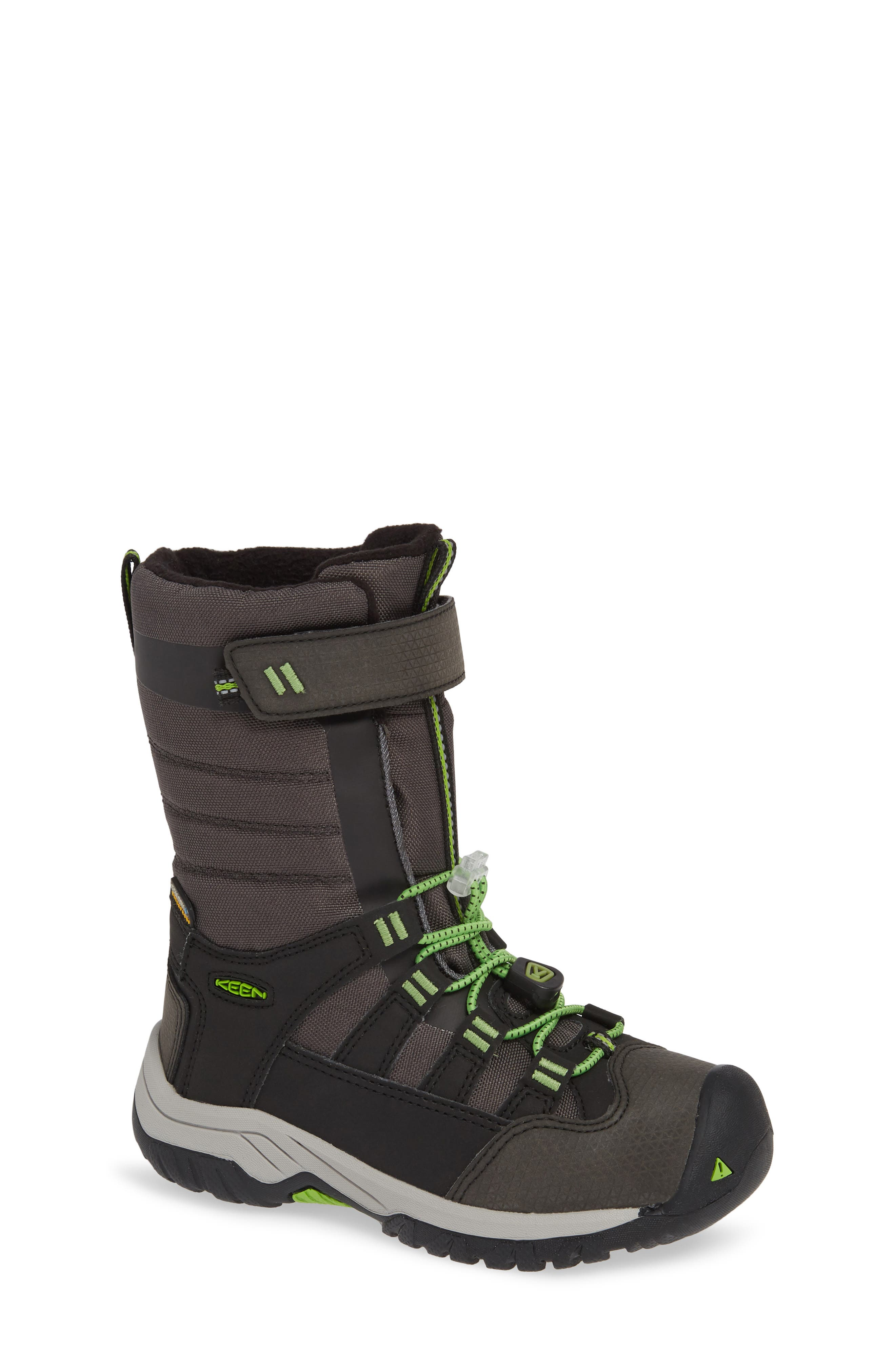 Winterport Neo Waterproof Insulated Boot,                             Main thumbnail 1, color,                             BLACK/ GREENERY