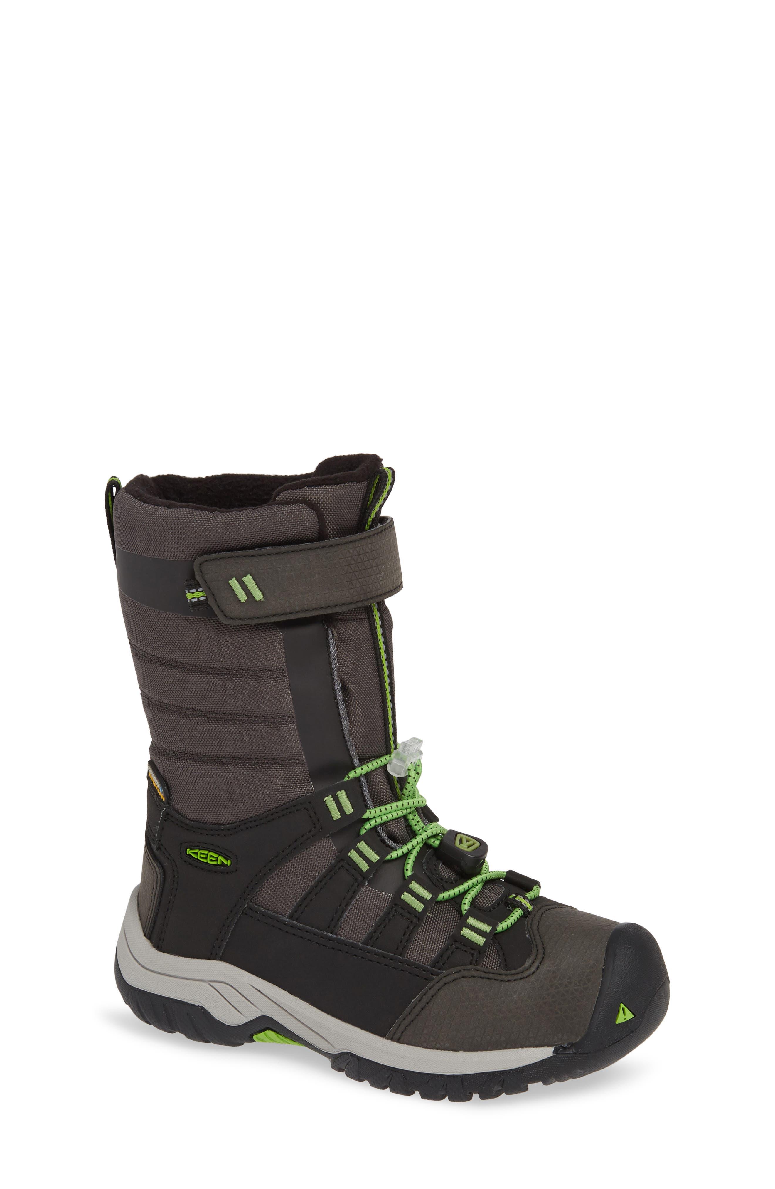Winterport Neo Waterproof Insulated Boot, Main, color, BLACK/ GREENERY