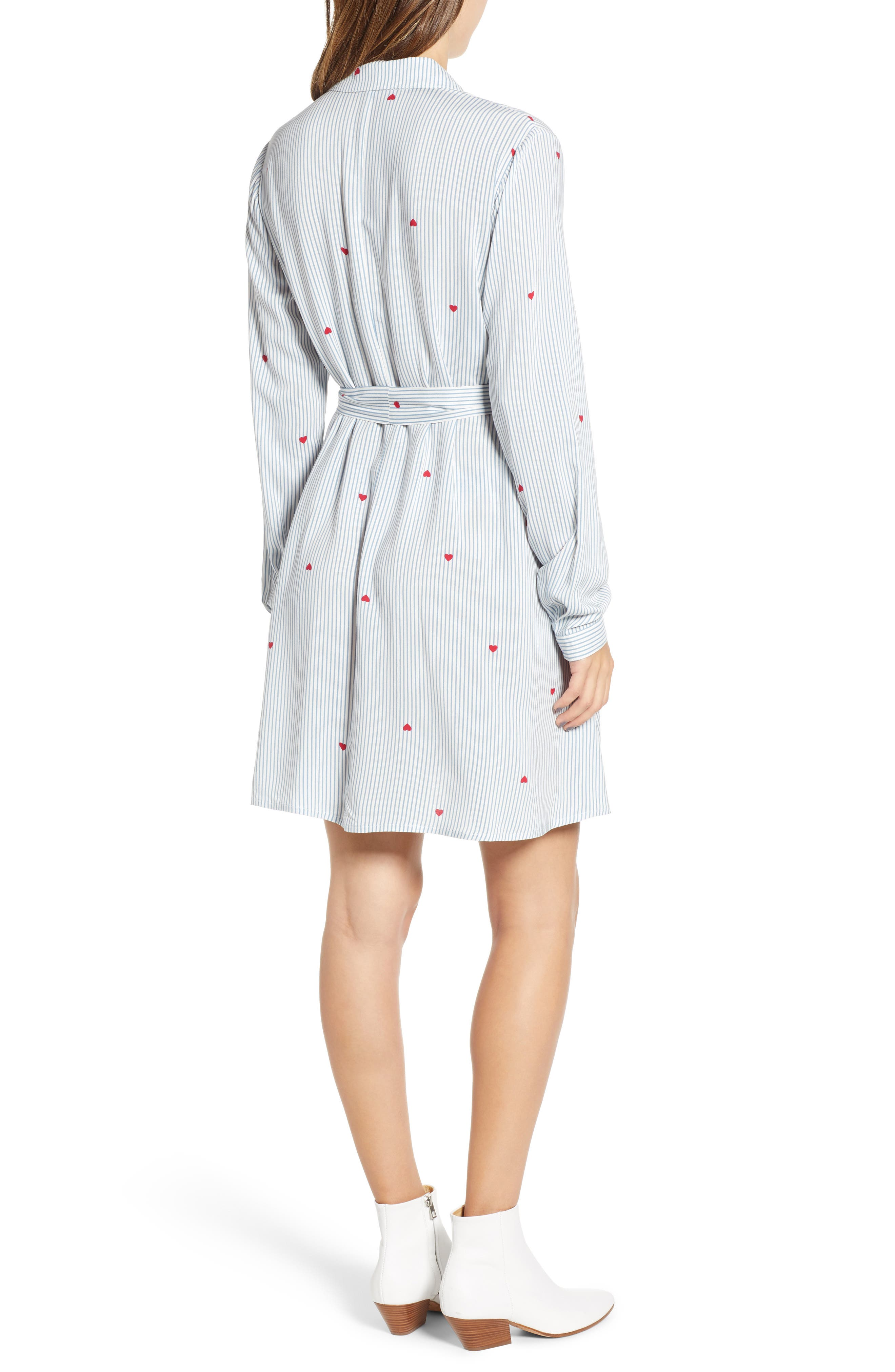 LOVE, FIRE,                             Hattie Heart Shirtdress,                             Alternate thumbnail 2, color,                             400