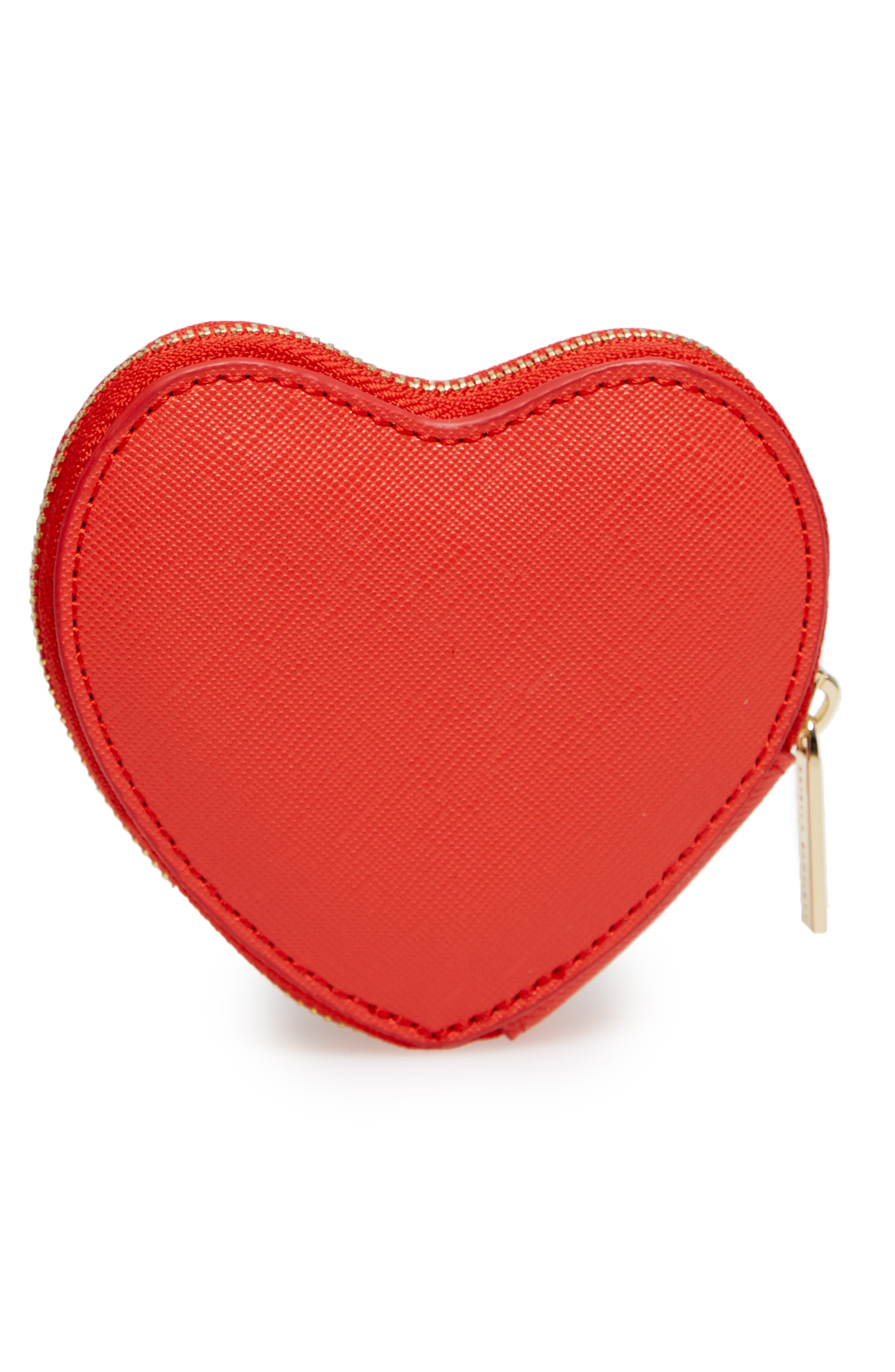 Dream Big Heart Faux Leather Coin Purse,                             Alternate thumbnail 3, color,