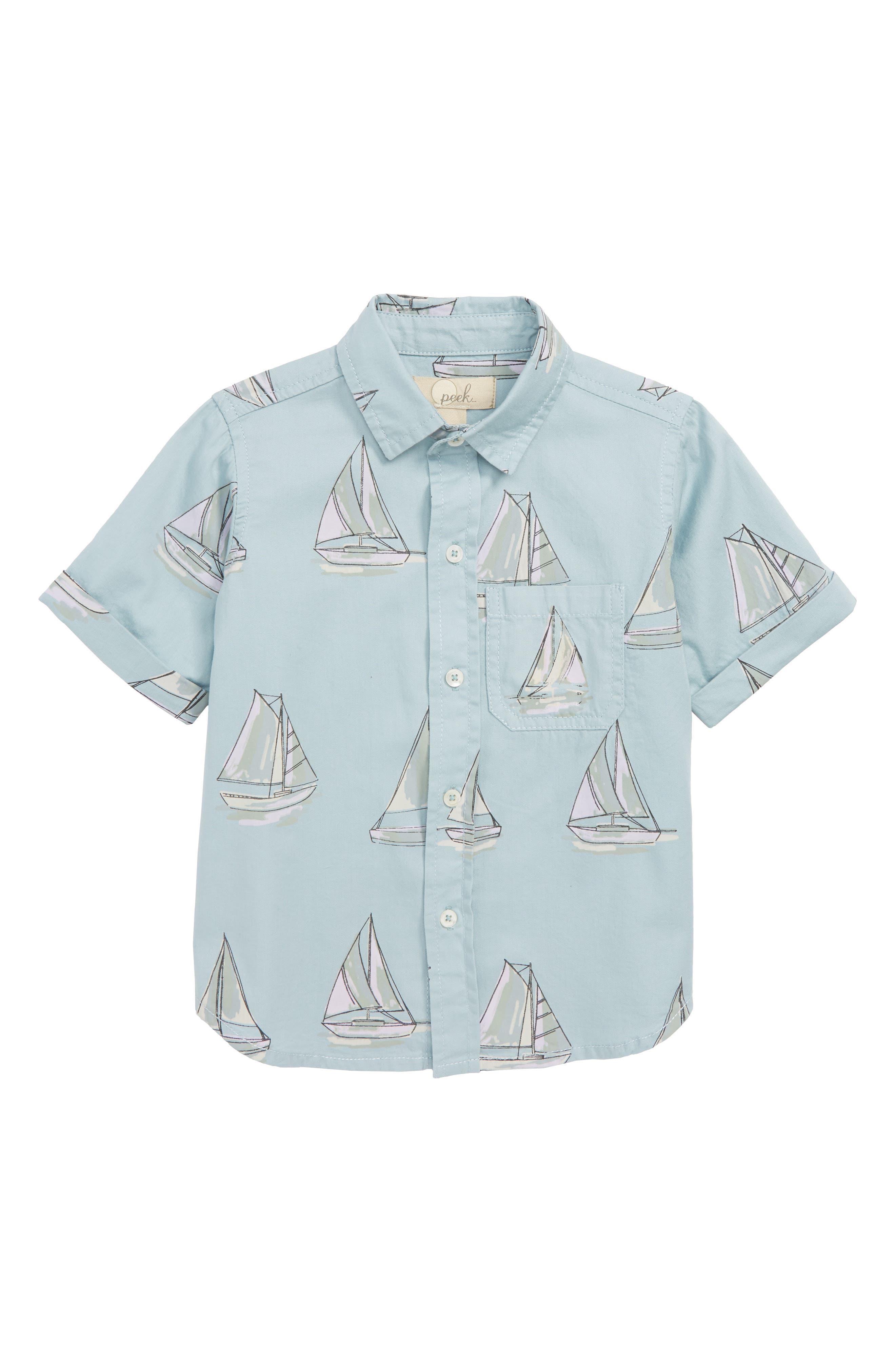 Peek Sailboat Shirt,                             Main thumbnail 1, color,                             400