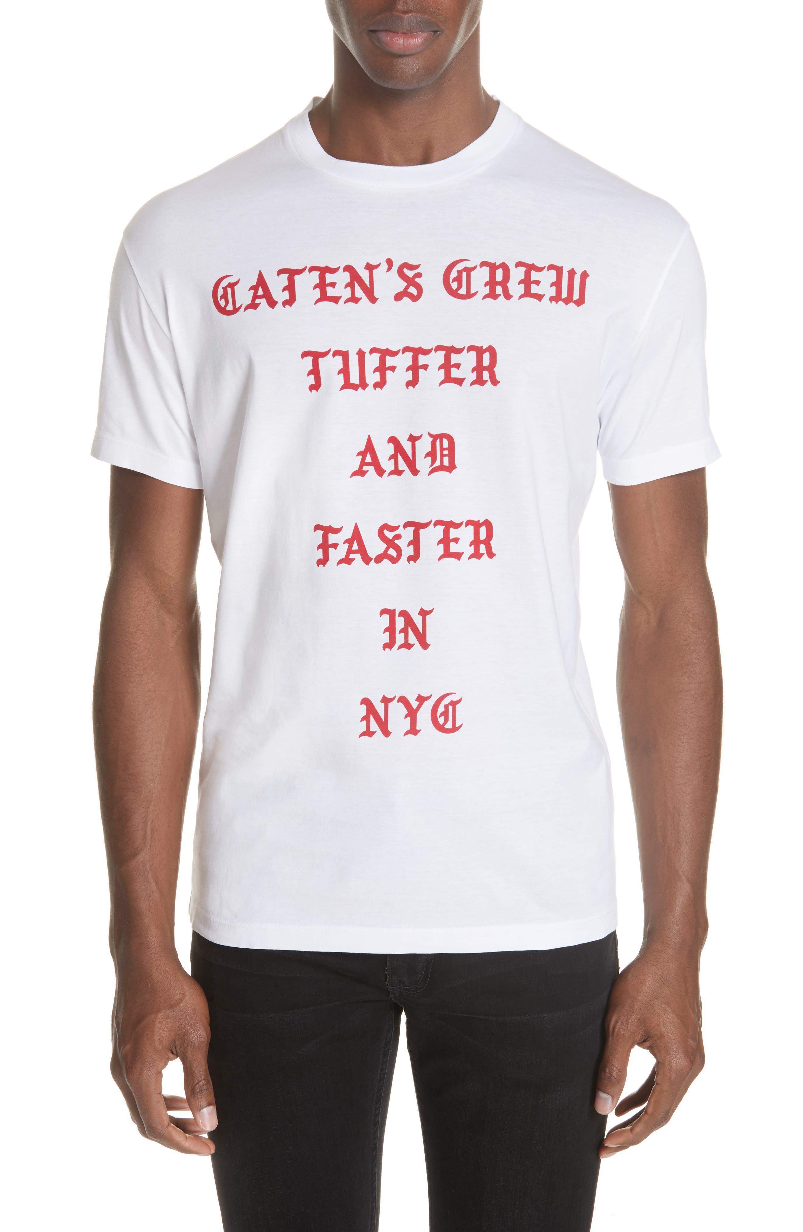 Old English Font T-Shirt,                             Main thumbnail 1, color,                             WHITE