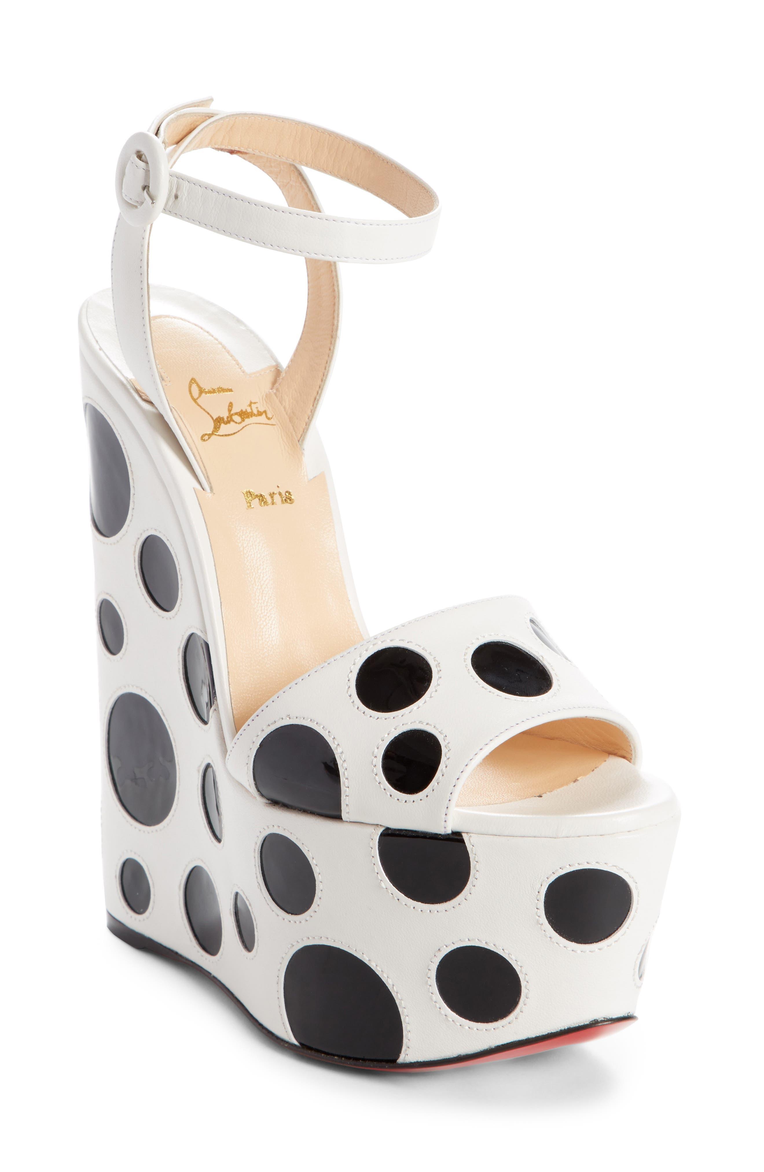 Bibariellita Bubble Up Wedge Sandal,                         Main,                         color, LATTE/ BLACK