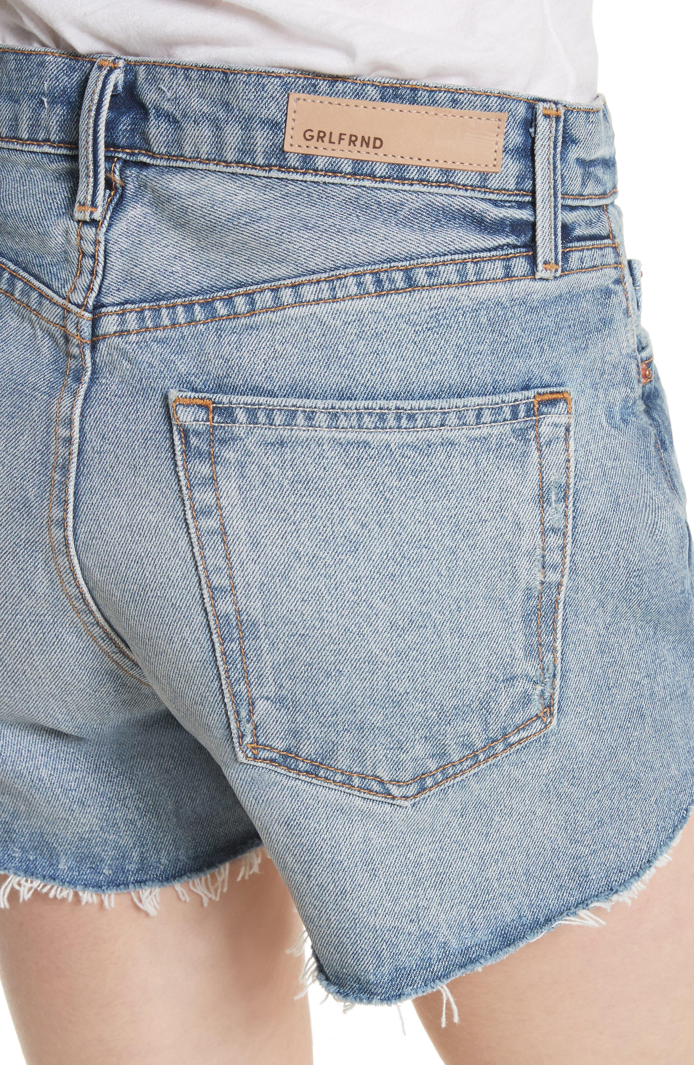 Mardee Denim Shorts,                             Alternate thumbnail 4, color,                             491