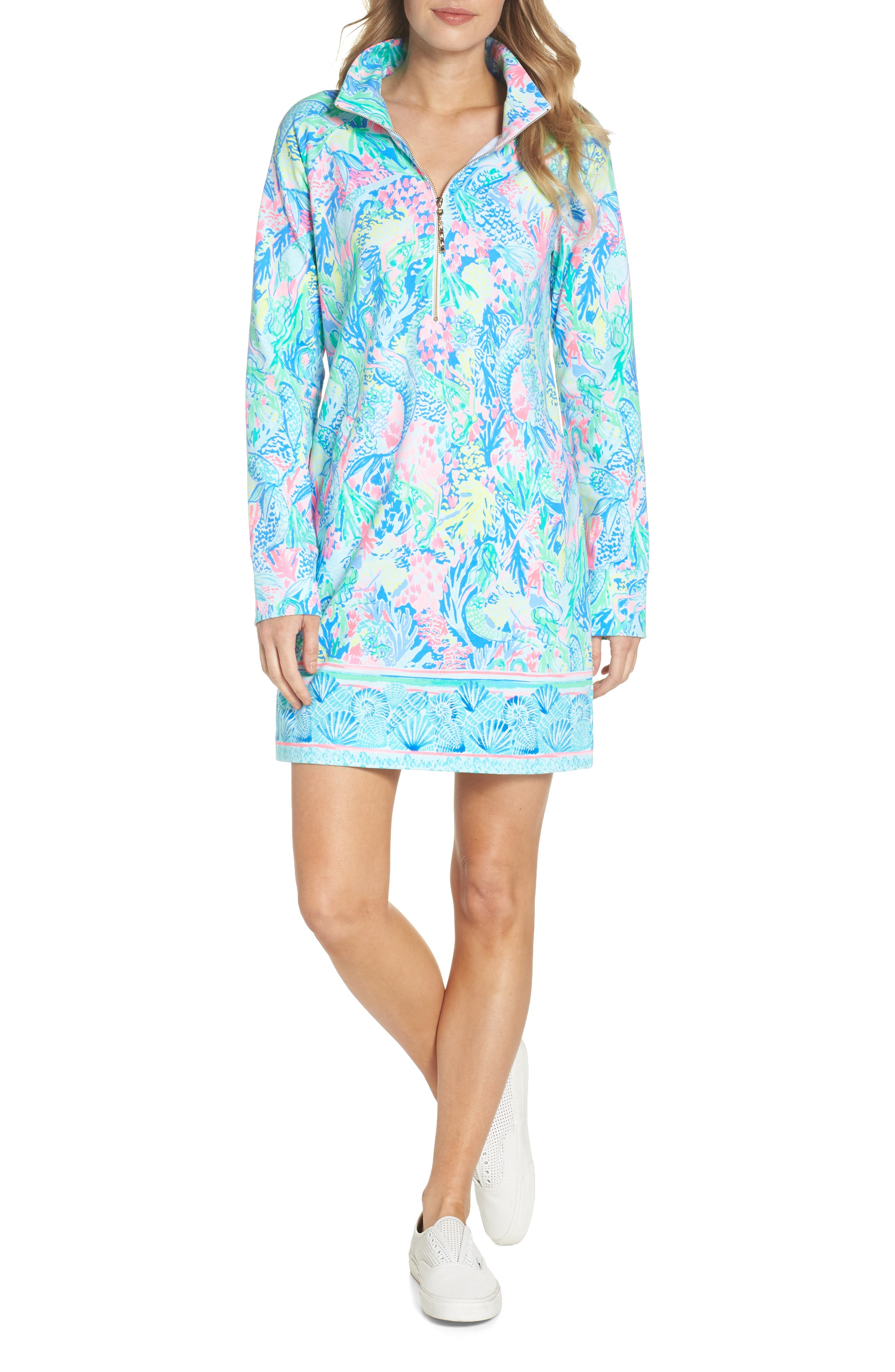 LILLY PULITZER<SUP>®</SUP>,                             Lilly Pulitzer Skipper Shift Dress,                             Alternate thumbnail 5, color,                             449