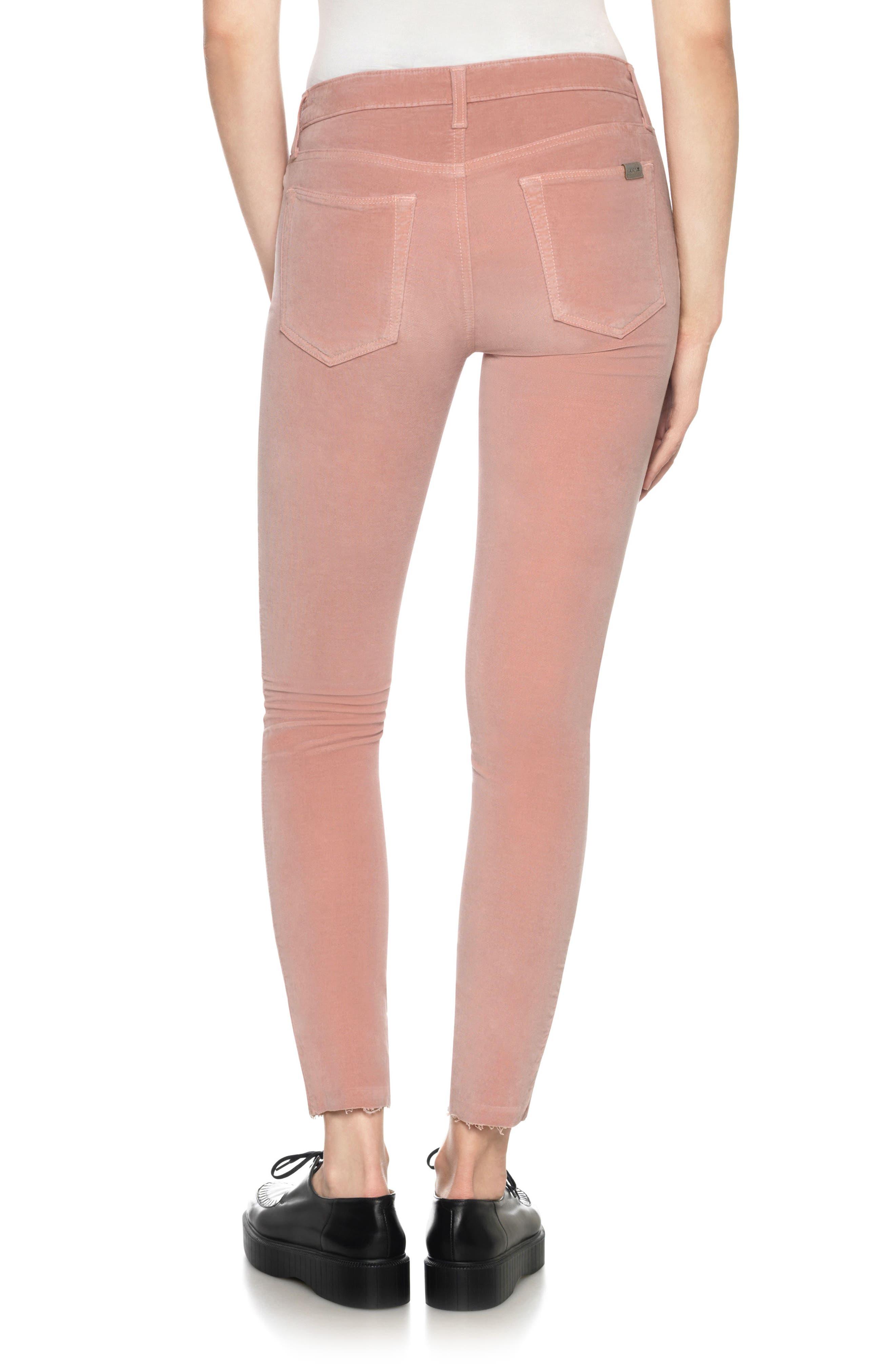 Icon Velvet Ankle Skinny Pants,                             Alternate thumbnail 8, color,