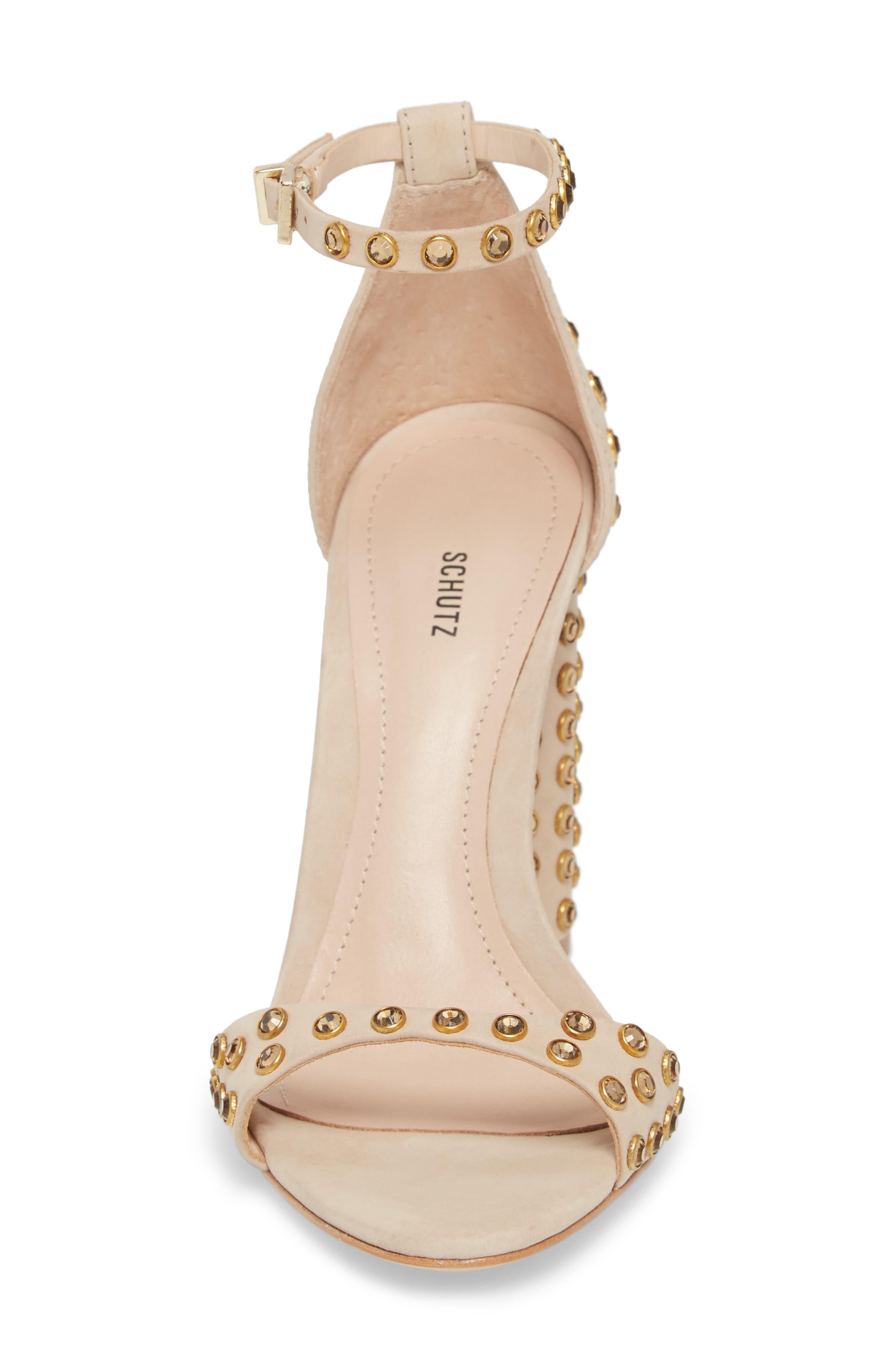 SCHUTZ,                             Marcelle Ankle Strap Sandal,                             Alternate thumbnail 4, color,                             015