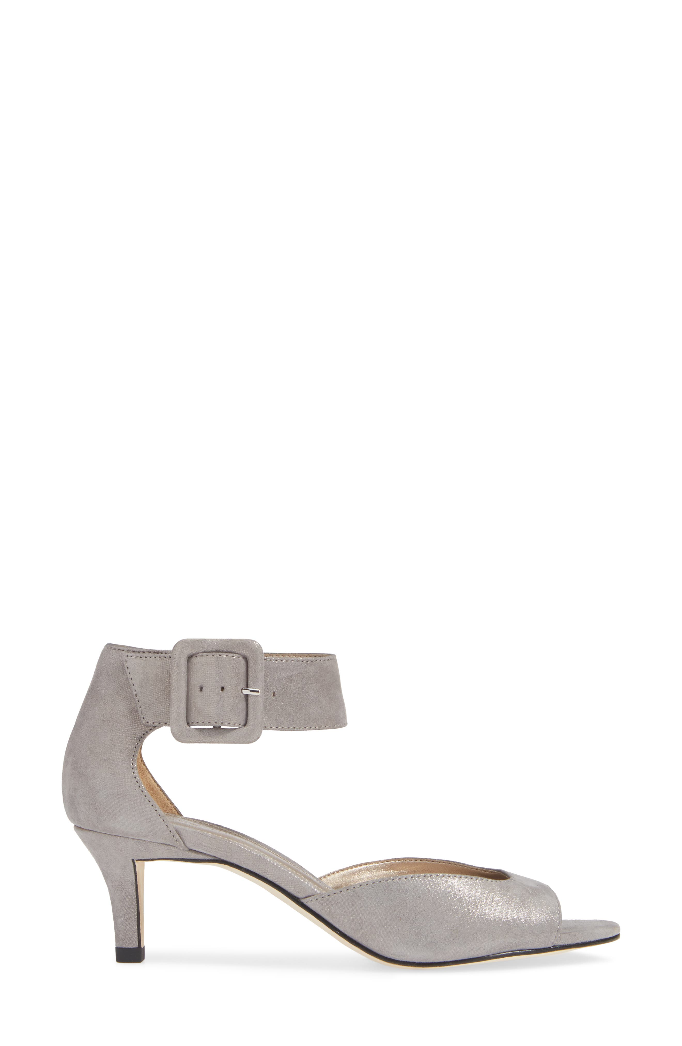 'Berlin' Sandal,                             Alternate thumbnail 3, color,                             PEWTER SUEDE