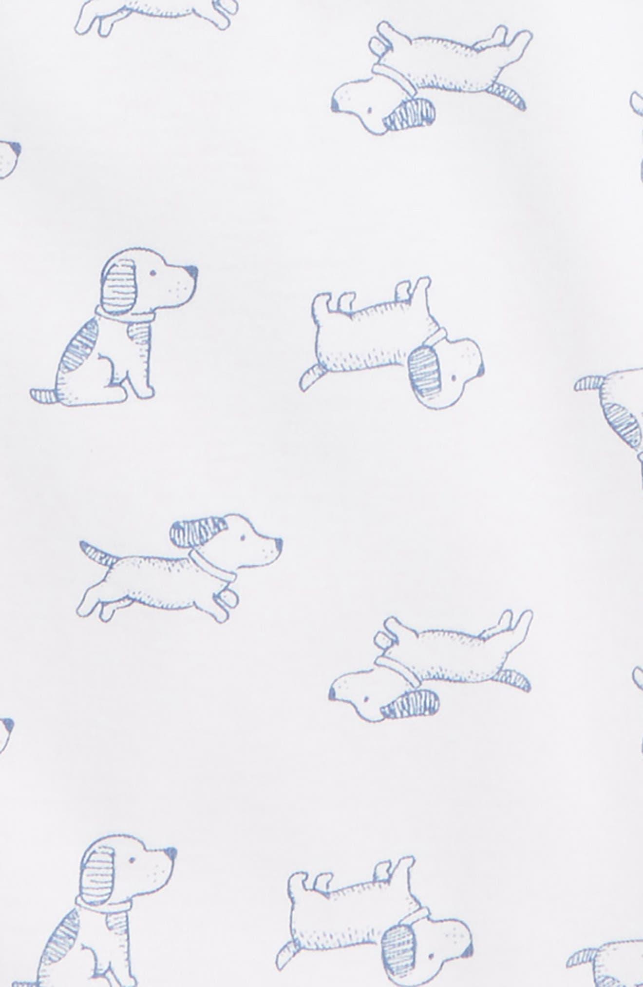 Hooded Romper & Puppy Romper Set,                             Alternate thumbnail 2, color,                             BLUE