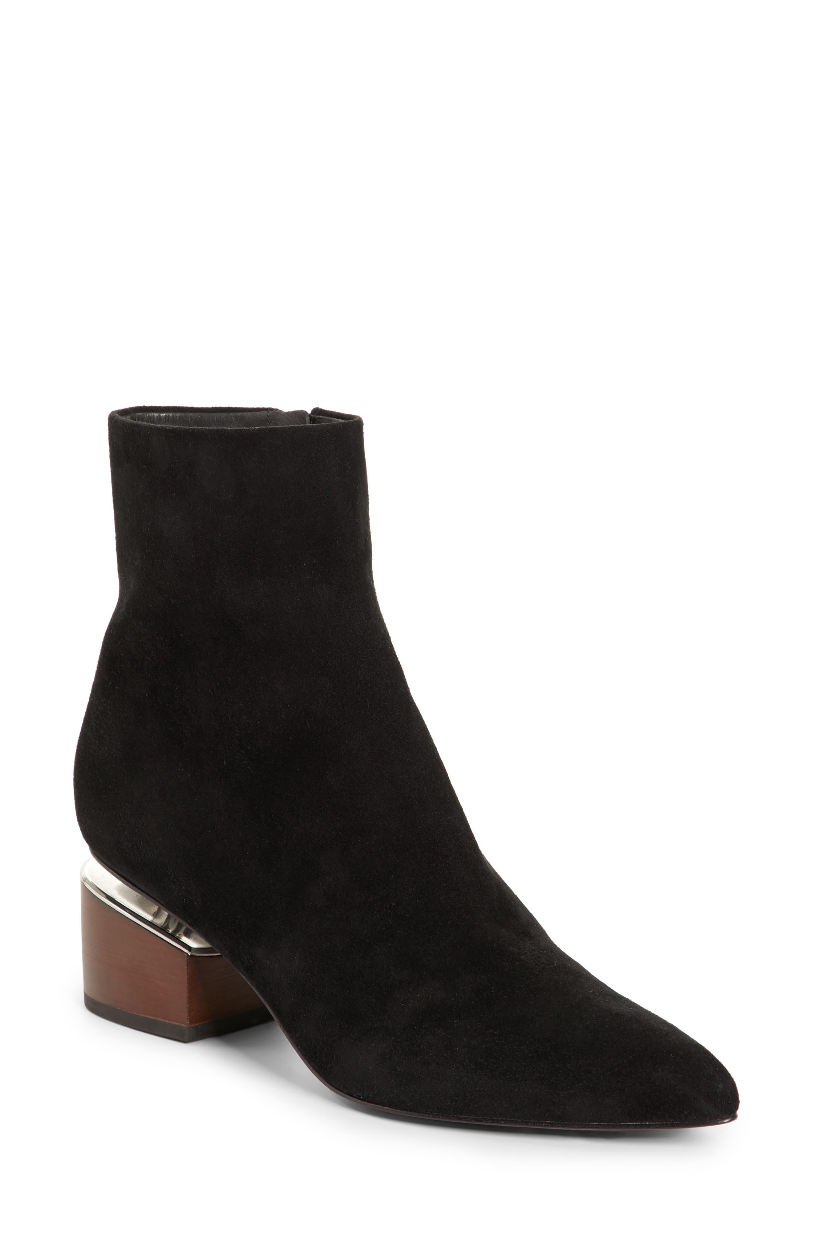 Jude Block Heel Bootie,                         Main,                         color, BLACK