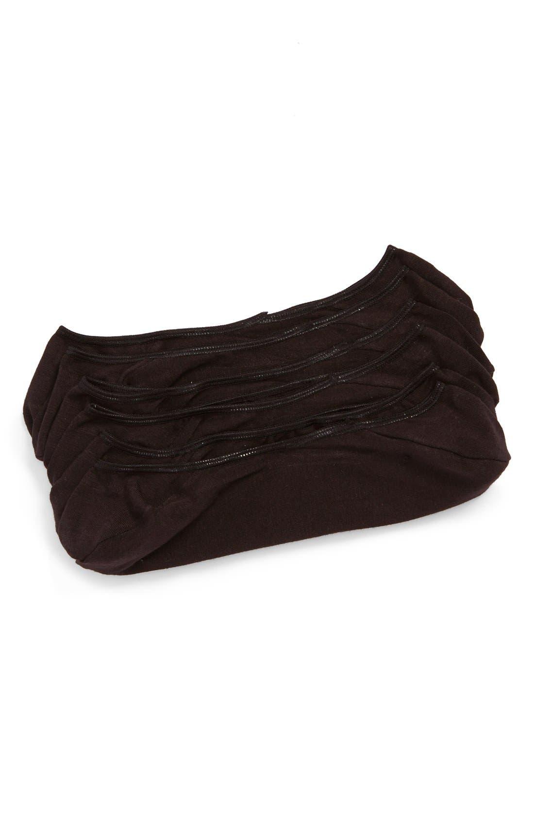3-Pack Liner Socks,                         Main,                         color, BLACK