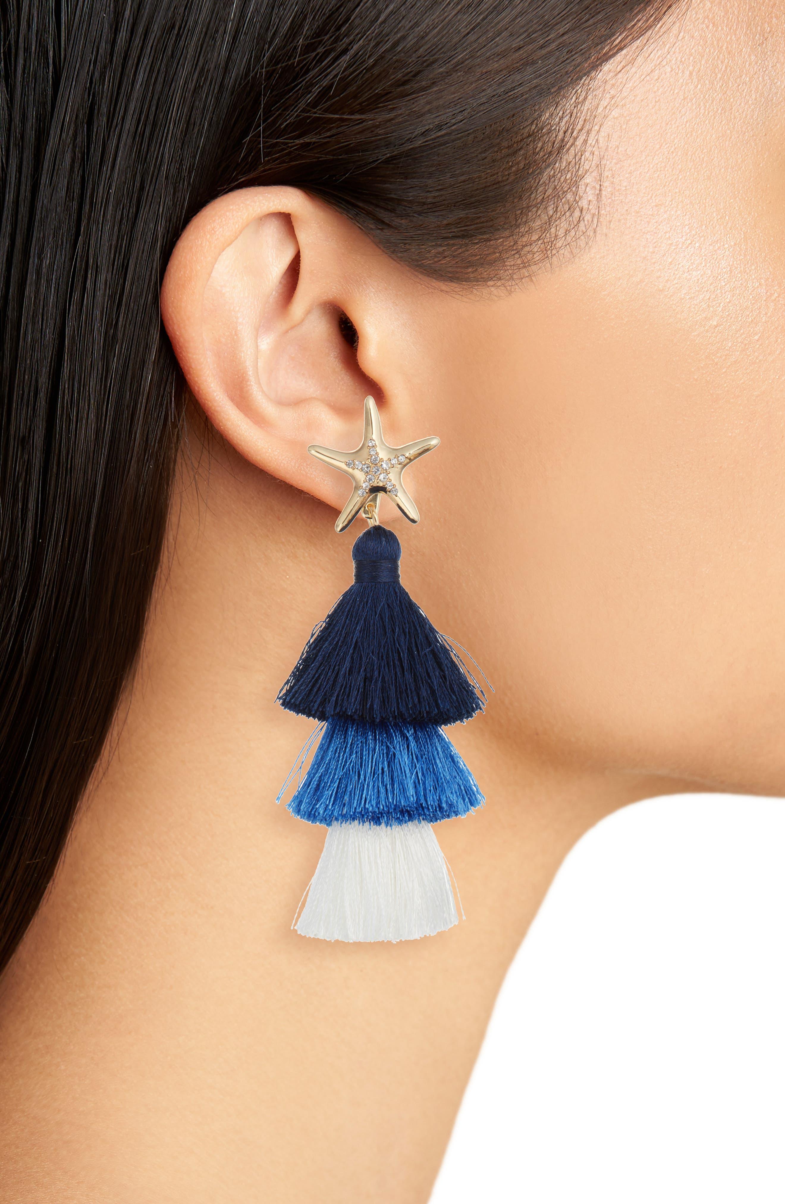 Starbright Earrings,                             Alternate thumbnail 2, color,                             NAUTI NAVY