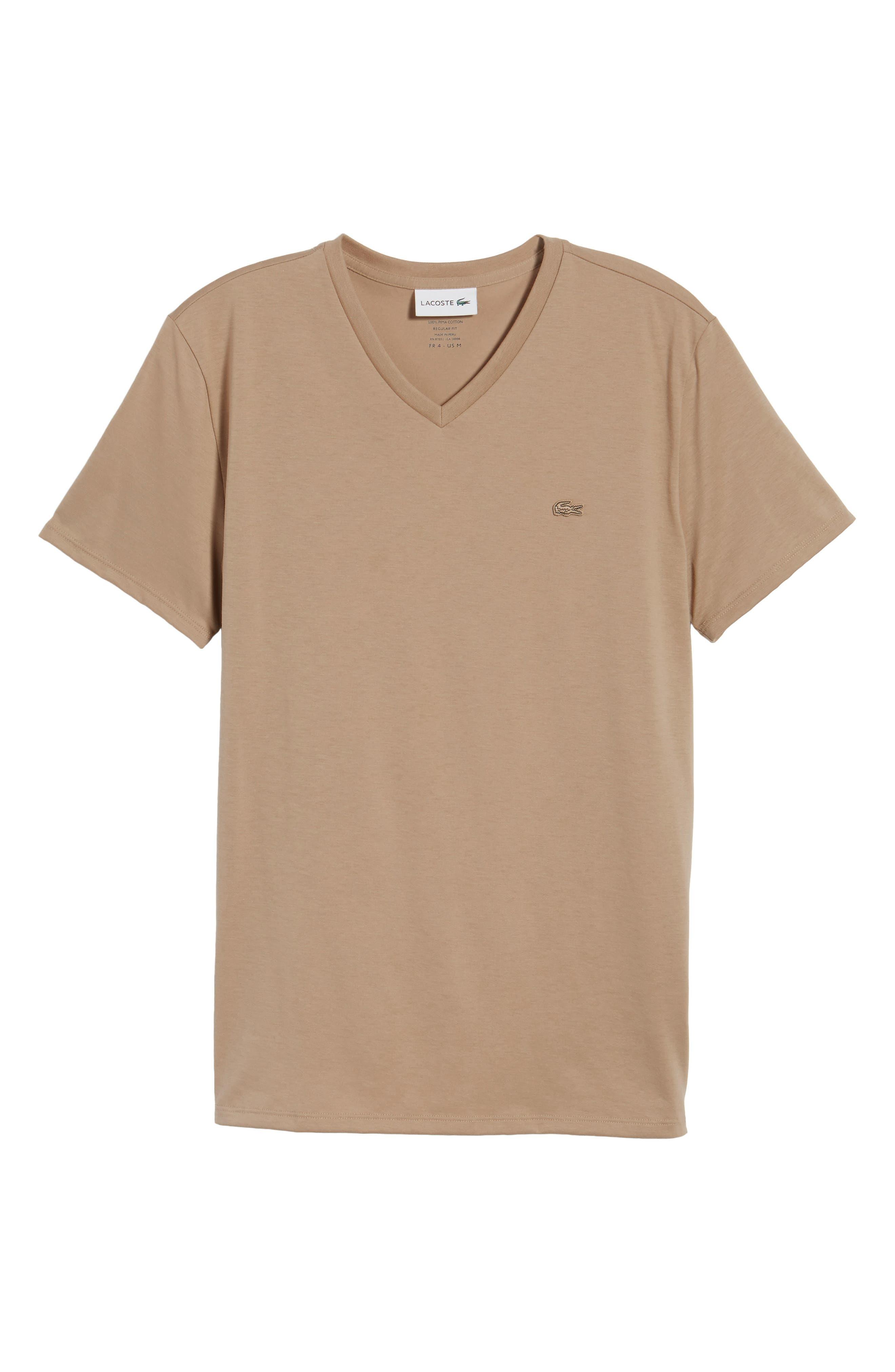 Pima Cotton T-Shirt,                             Alternate thumbnail 6, color,                             KRAFT BEIGE