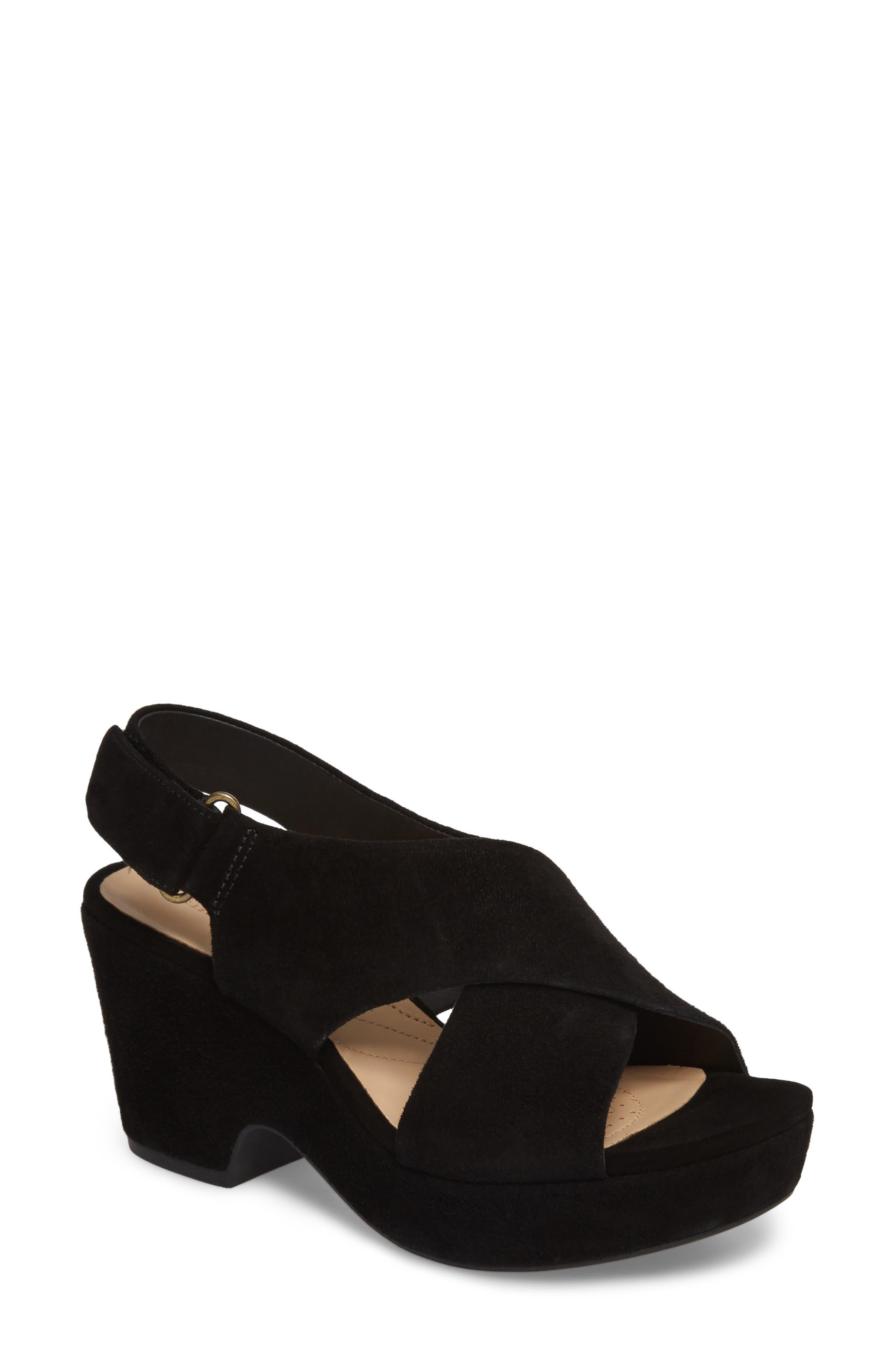 Maritsa Lara Slingback Sandal,                         Main,                         color, BLACK SUEDE