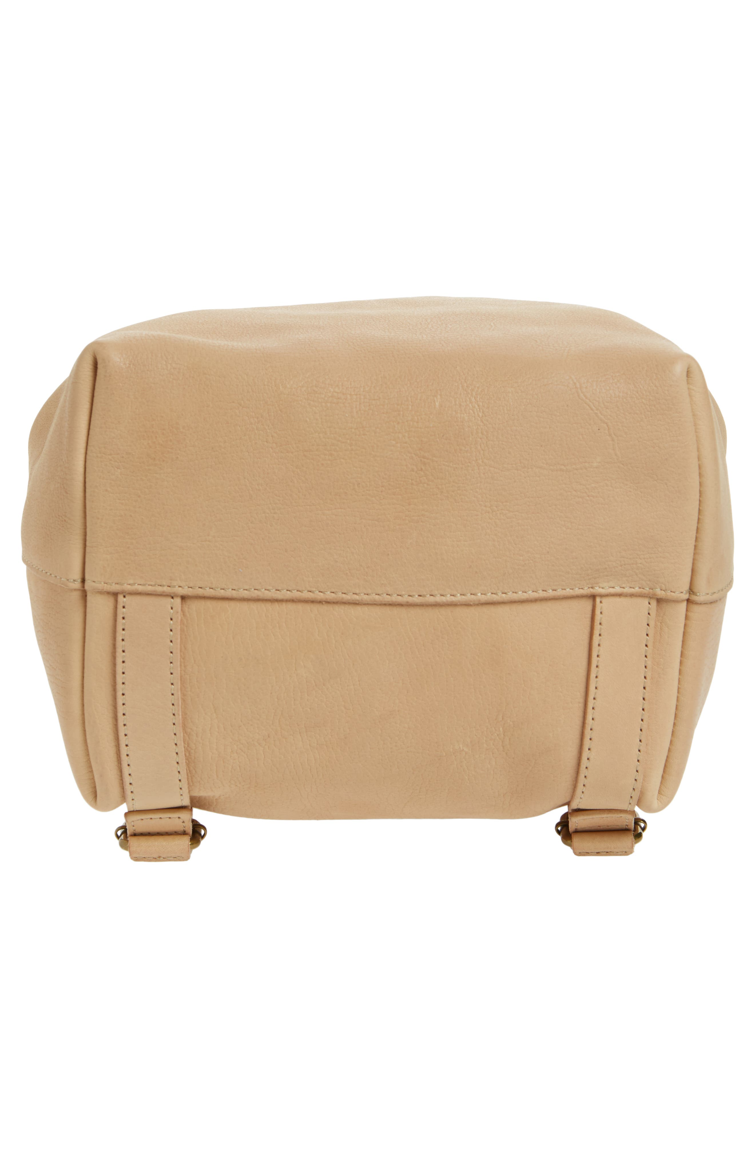 Somerset Leather Backpack,                             Alternate thumbnail 6, color,                             LINEN