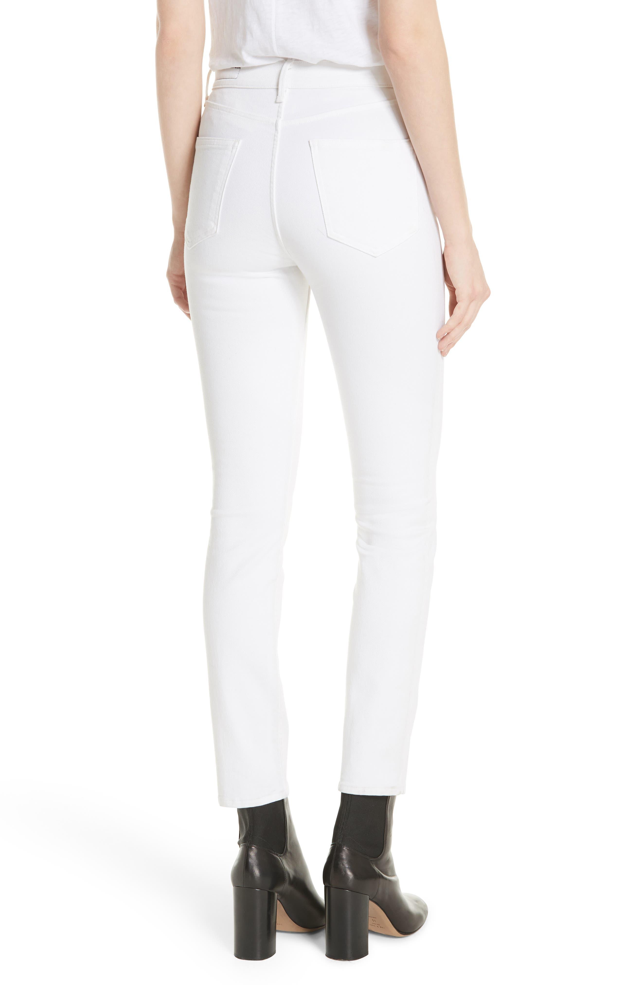 High Waist Ankle Skinny Jeans,                             Alternate thumbnail 2, color,                             100