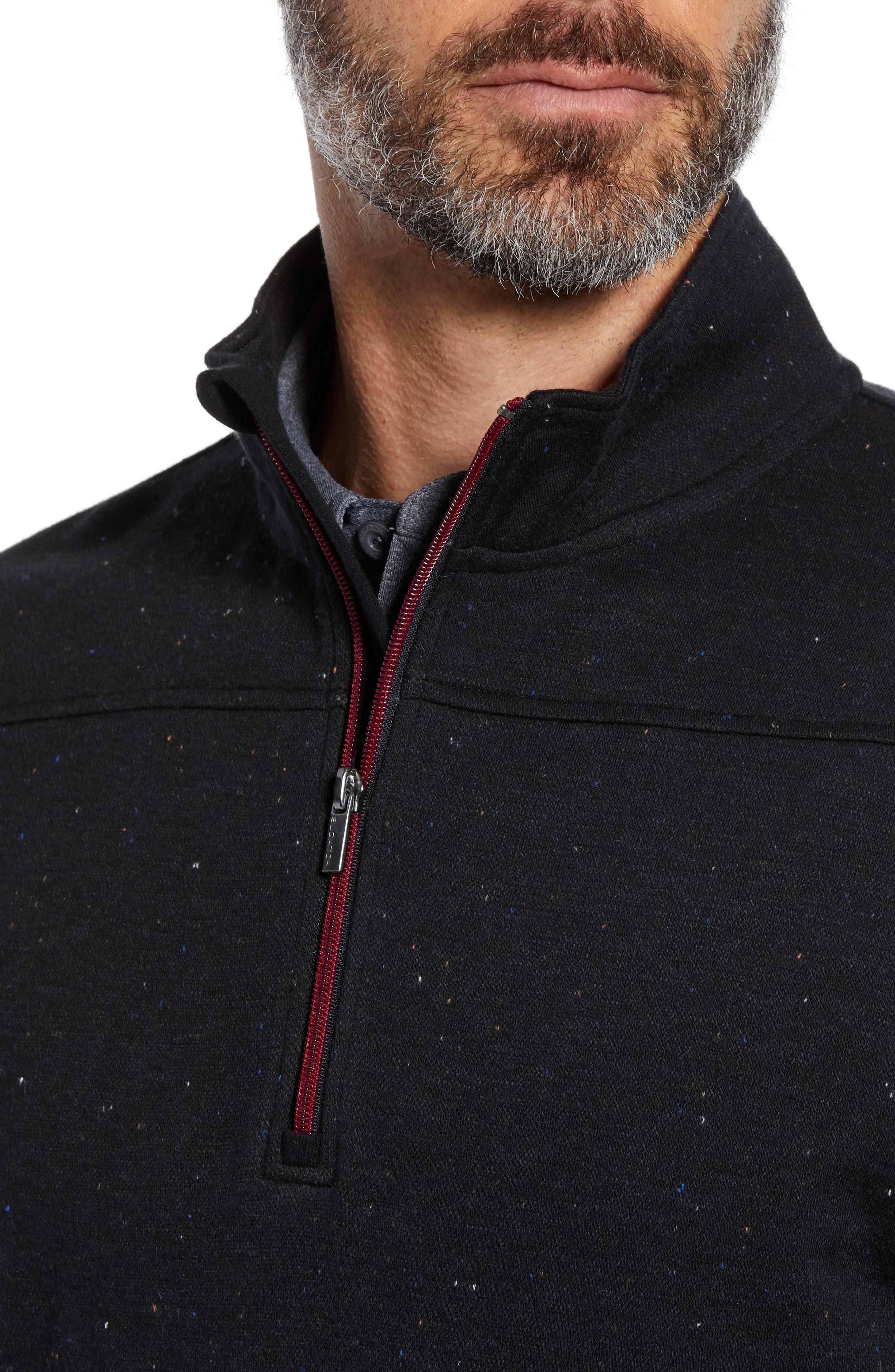 Regular Fit Pullover Sweatshirt,                             Alternate thumbnail 4, color,                             NAVY