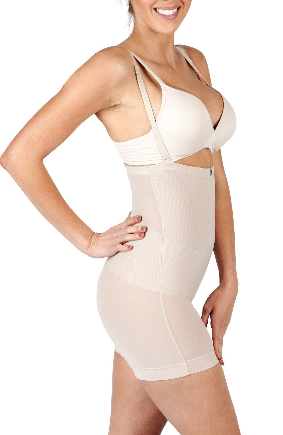 'Sienna' Post C-Section Garment,                             Alternate thumbnail 4, color,                             NUDE