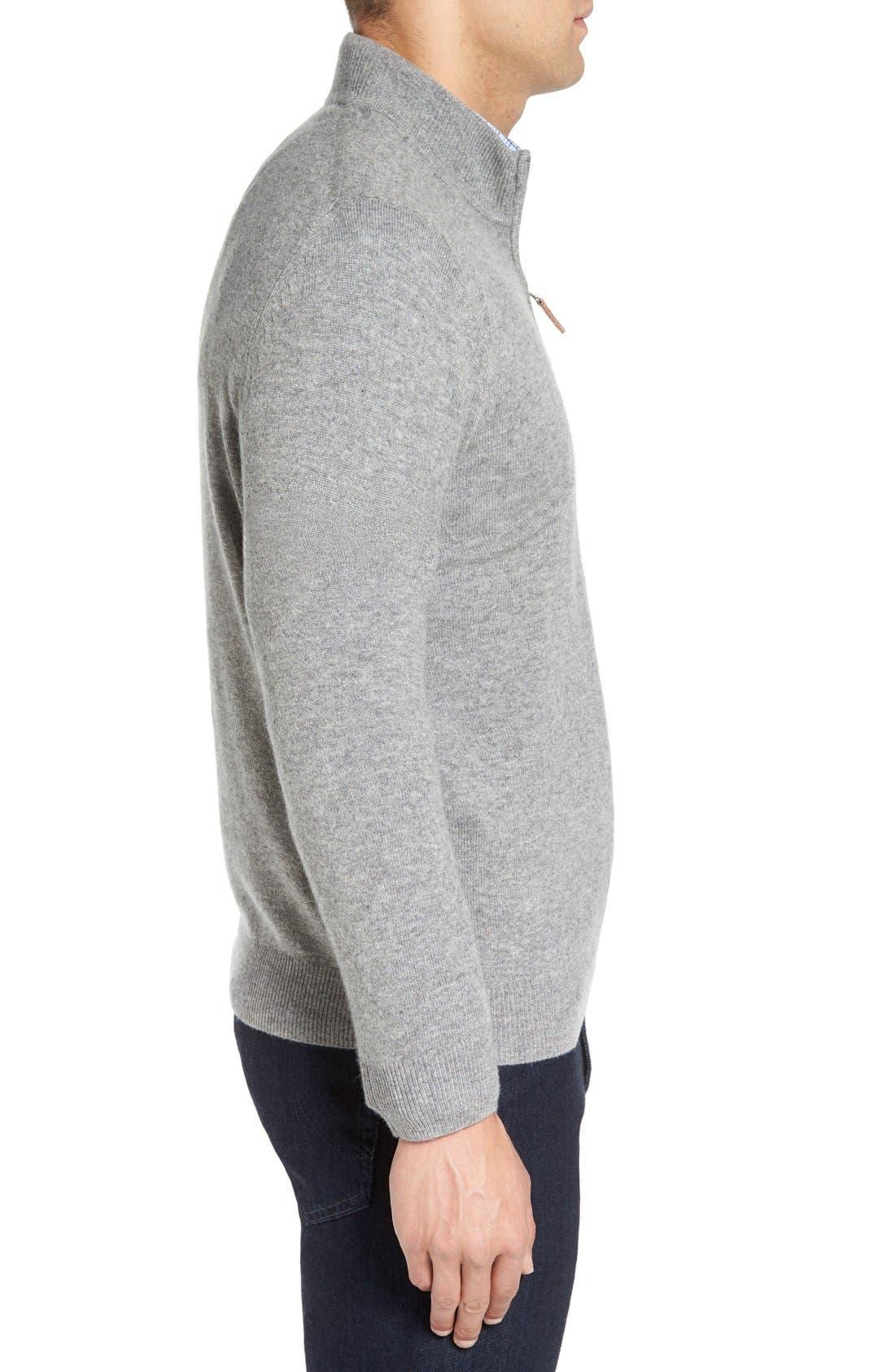 Cashmere Quarter Zip Sweater,                             Alternate thumbnail 38, color,