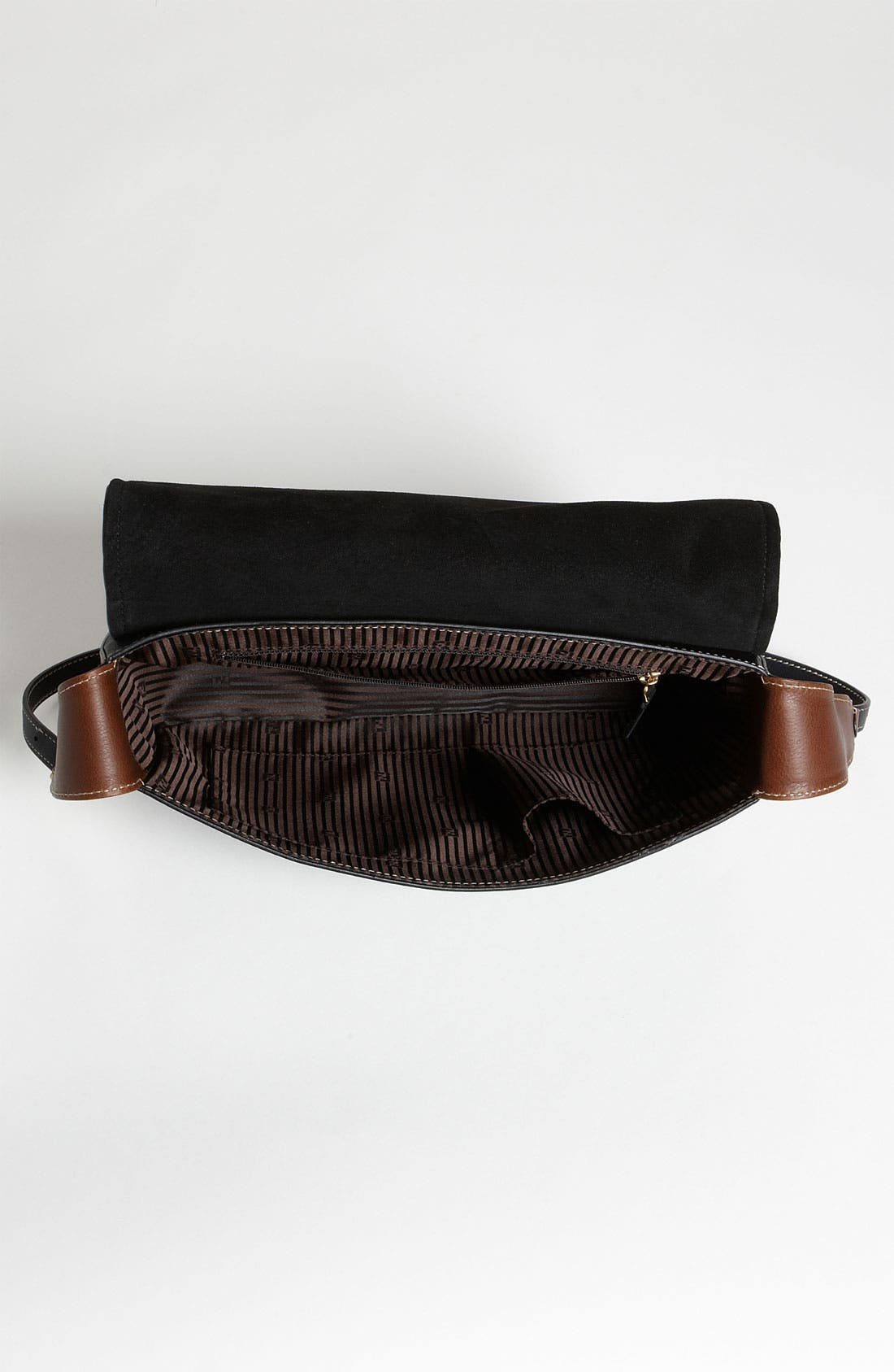 'Chameleon' Leather Shoulder Bag,                             Alternate thumbnail 4, color,                             001