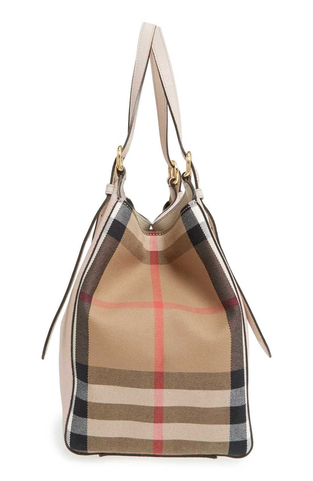 'Derby Canterbury' House Check Shoulder Tote,                             Alternate thumbnail 5, color,                             101