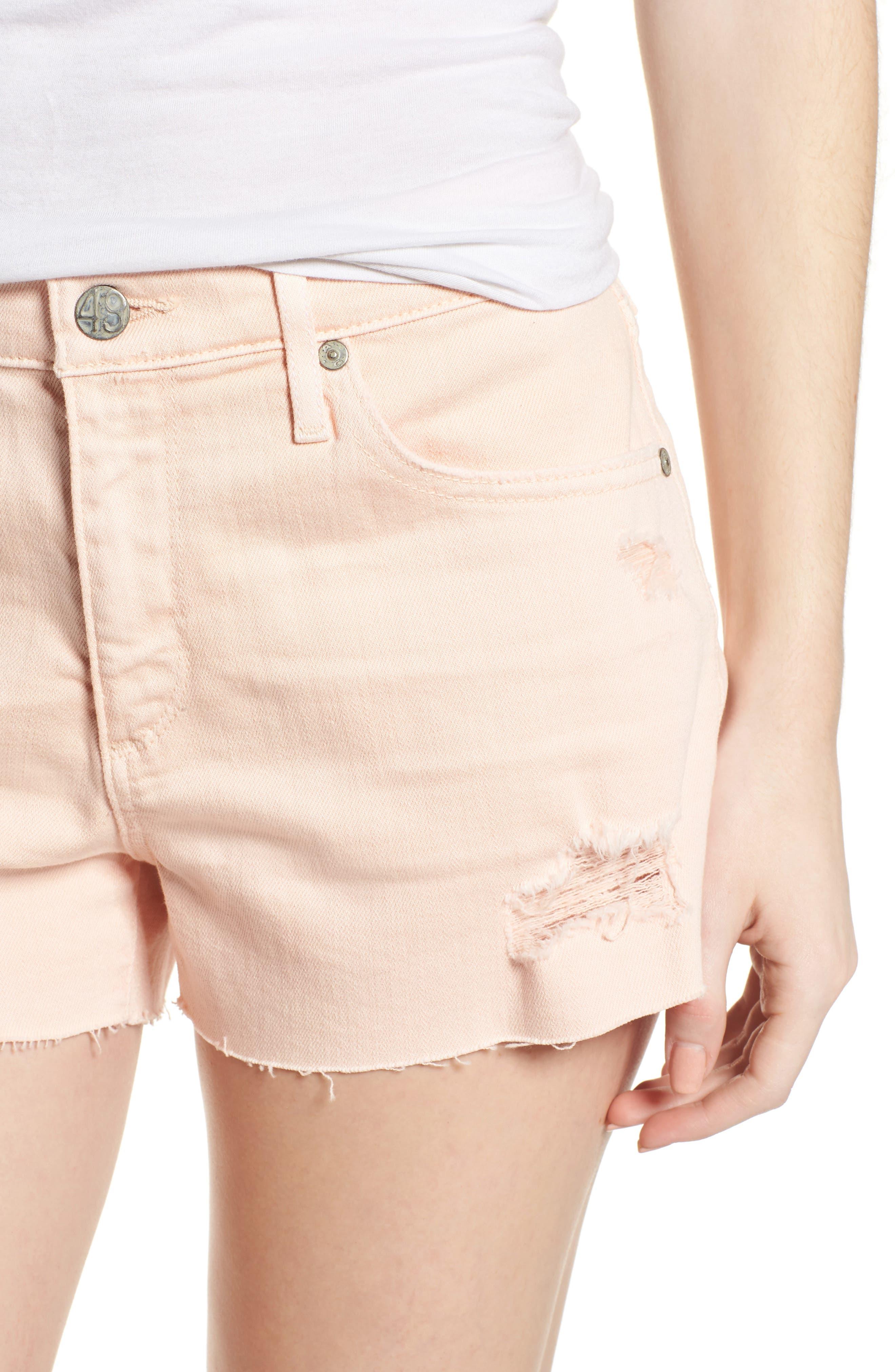 The Bryn High Waist Cutoff Denim Shorts,                             Alternate thumbnail 13, color,