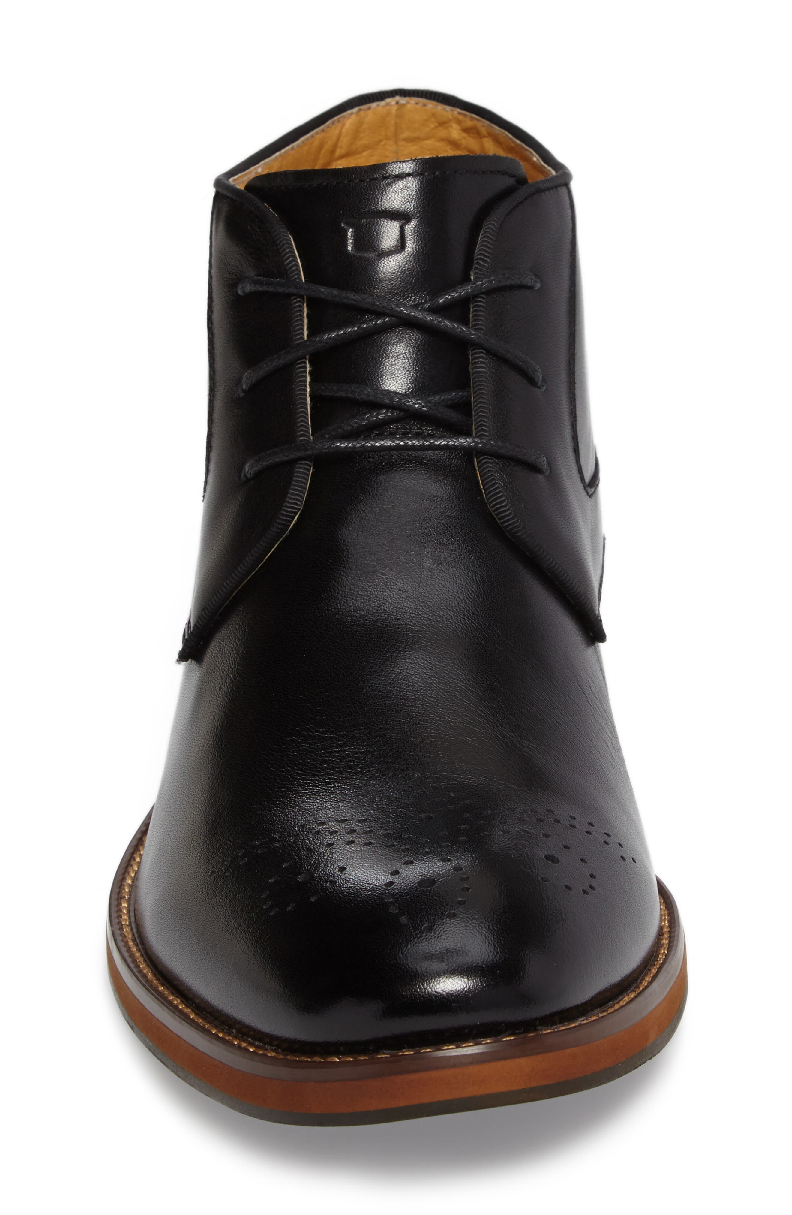 Blaze Chukka Boot,                             Alternate thumbnail 4, color,                             BLACK LEATHER