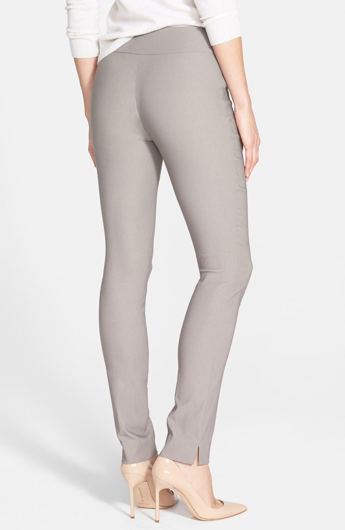 Wonderstretch Slim Leg Pants,                             Alternate thumbnail 3, color,                             MUSHROOM