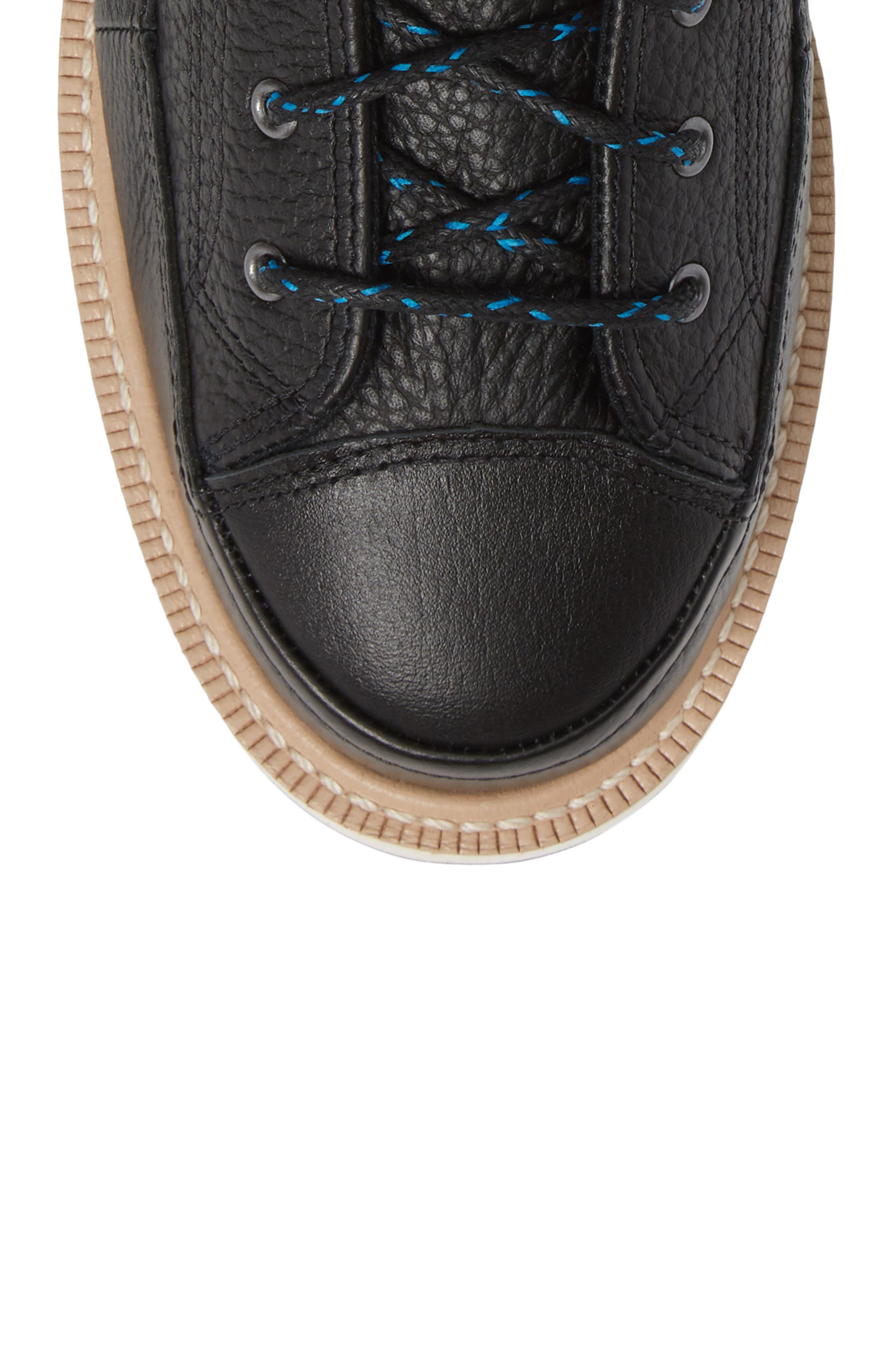 Chuck Taylor<sup>®</sup> Crafted Boot,                             Alternate thumbnail 5, color,                             BLACK/ LIGHT FAWN/ BLACK