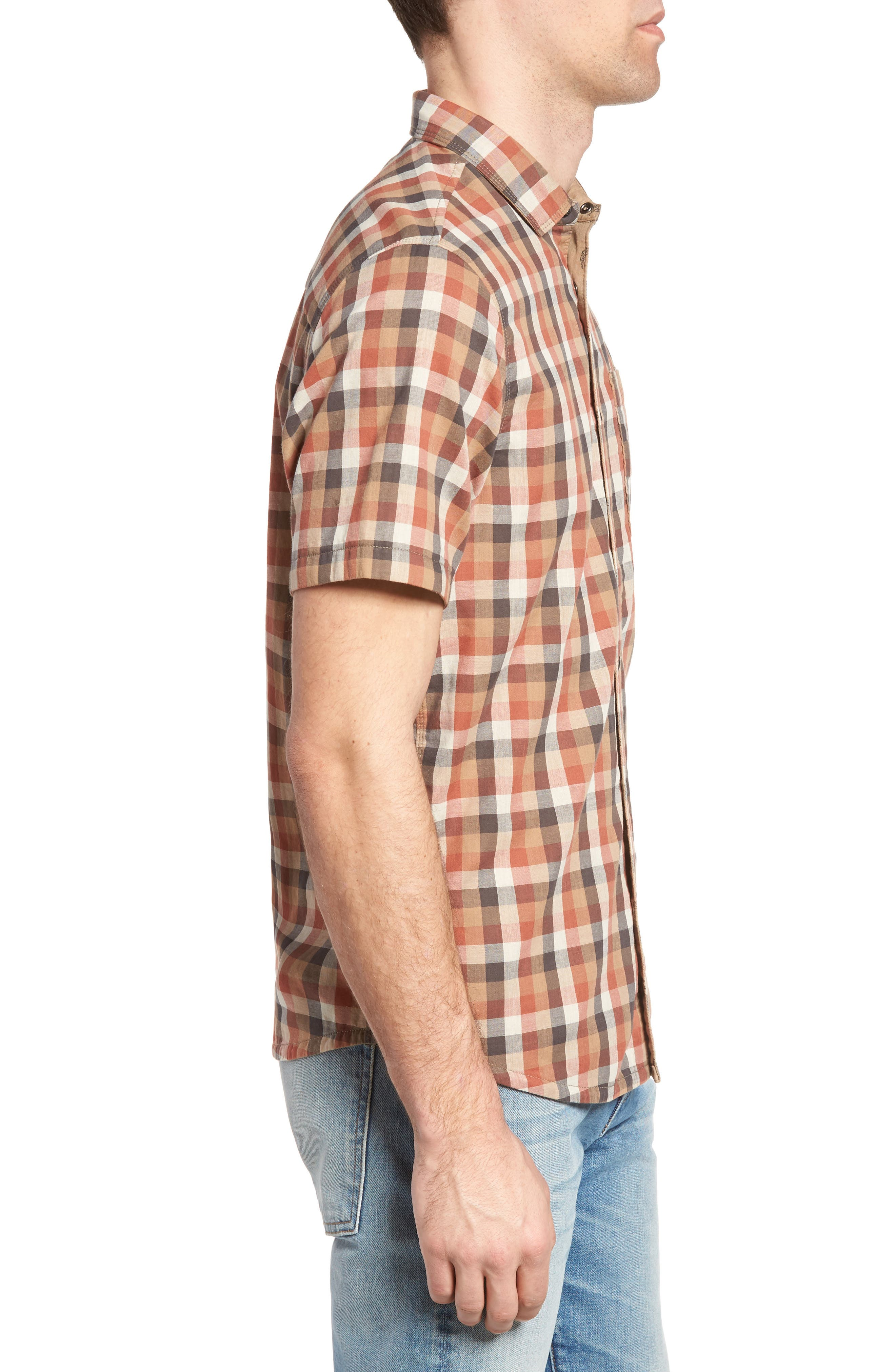 Nomad Reversible Plaid Sport Shirt,                             Alternate thumbnail 3, color,                             907