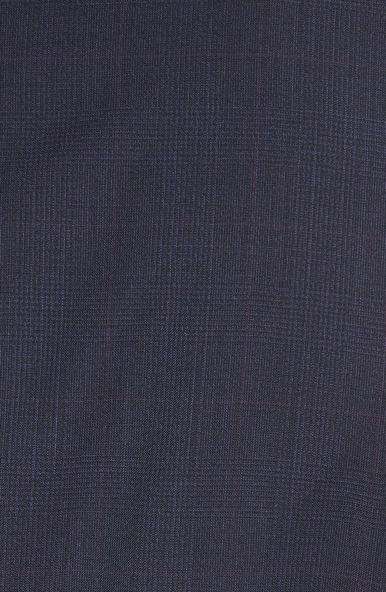 Classic Fit Check Wool Suit,                             Alternate thumbnail 7, color,                             416