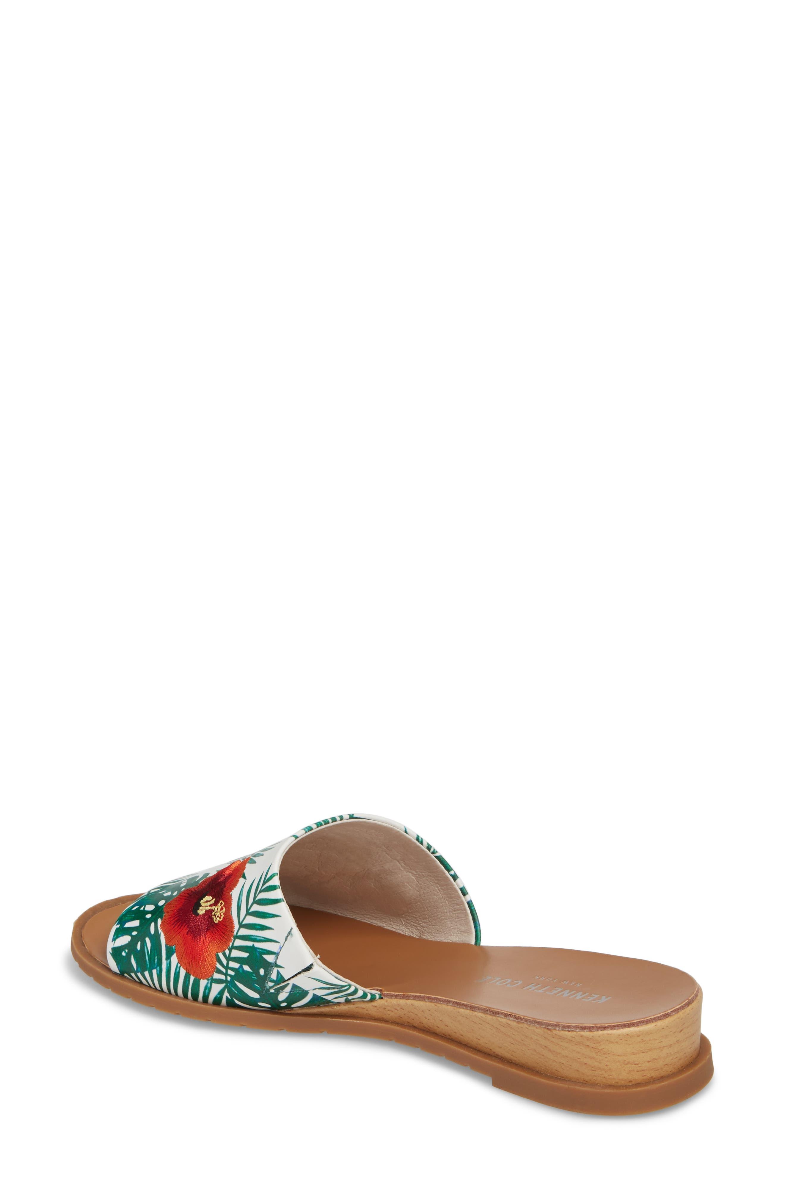Joanne Flower Embroidered Slide Sandal,                             Alternate thumbnail 11, color,