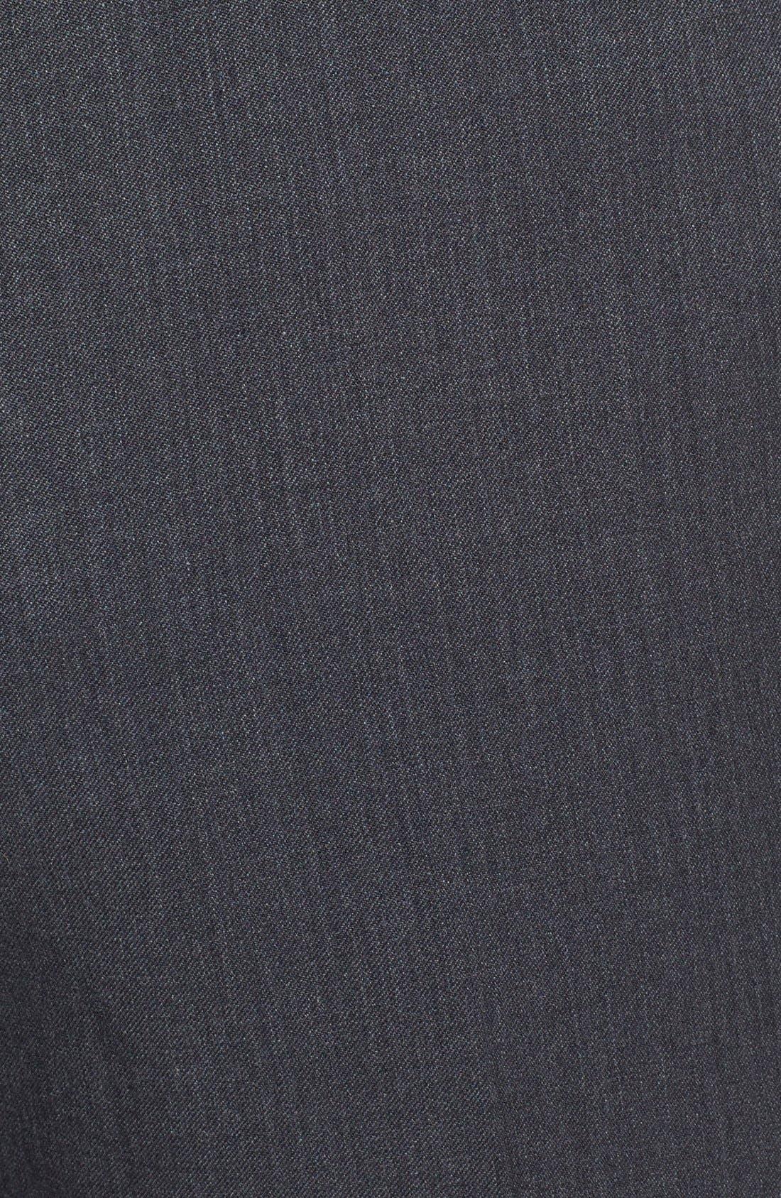 Gab Trim Fit Flat Front Pants,                             Alternate thumbnail 8, color,                             002