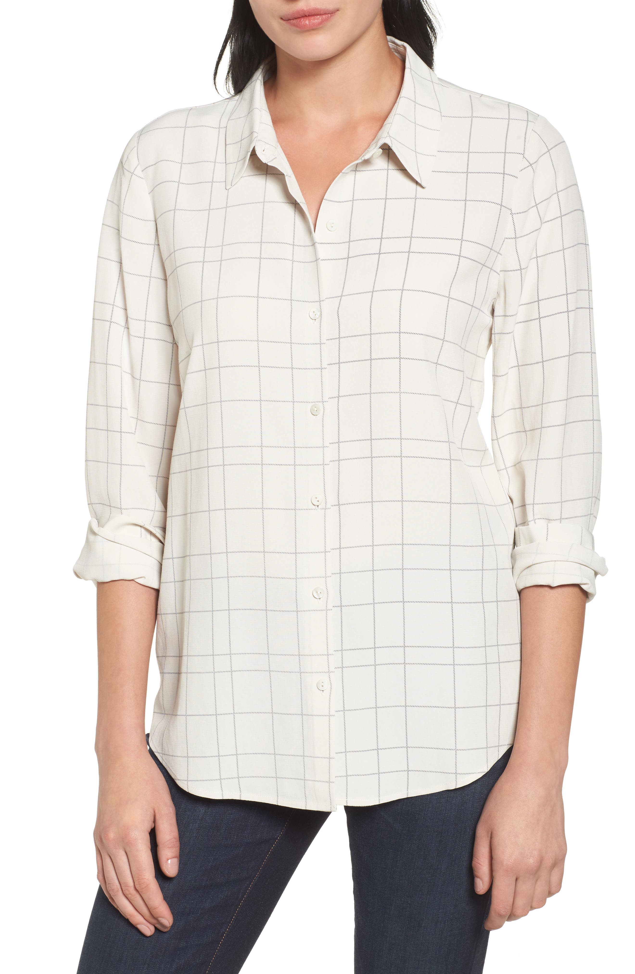Windowpane Classic Collar Shirt,                             Main thumbnail 2, color,