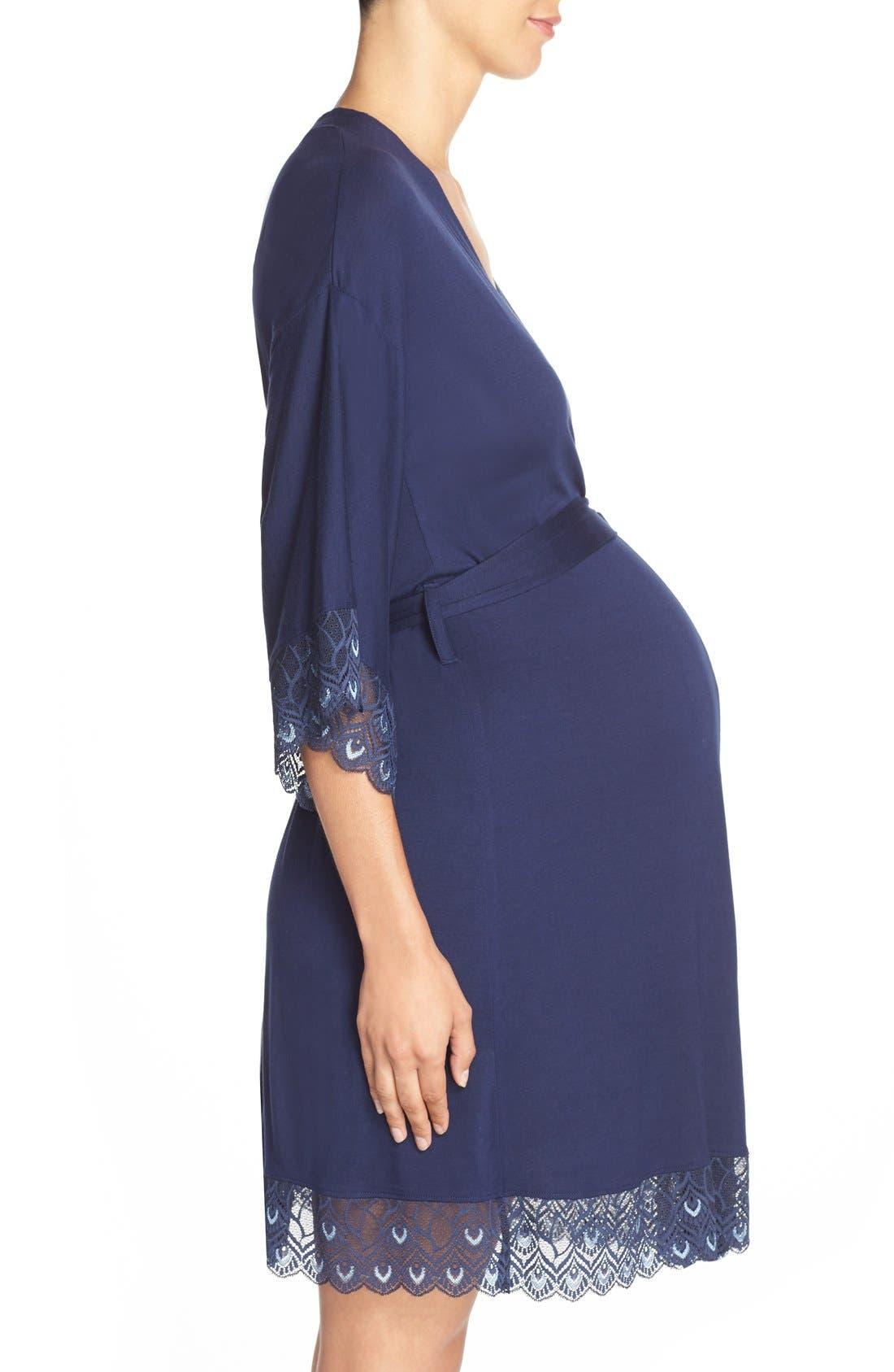 'Tallulah' Maternity Jersey Robe,                             Alternate thumbnail 8, color,