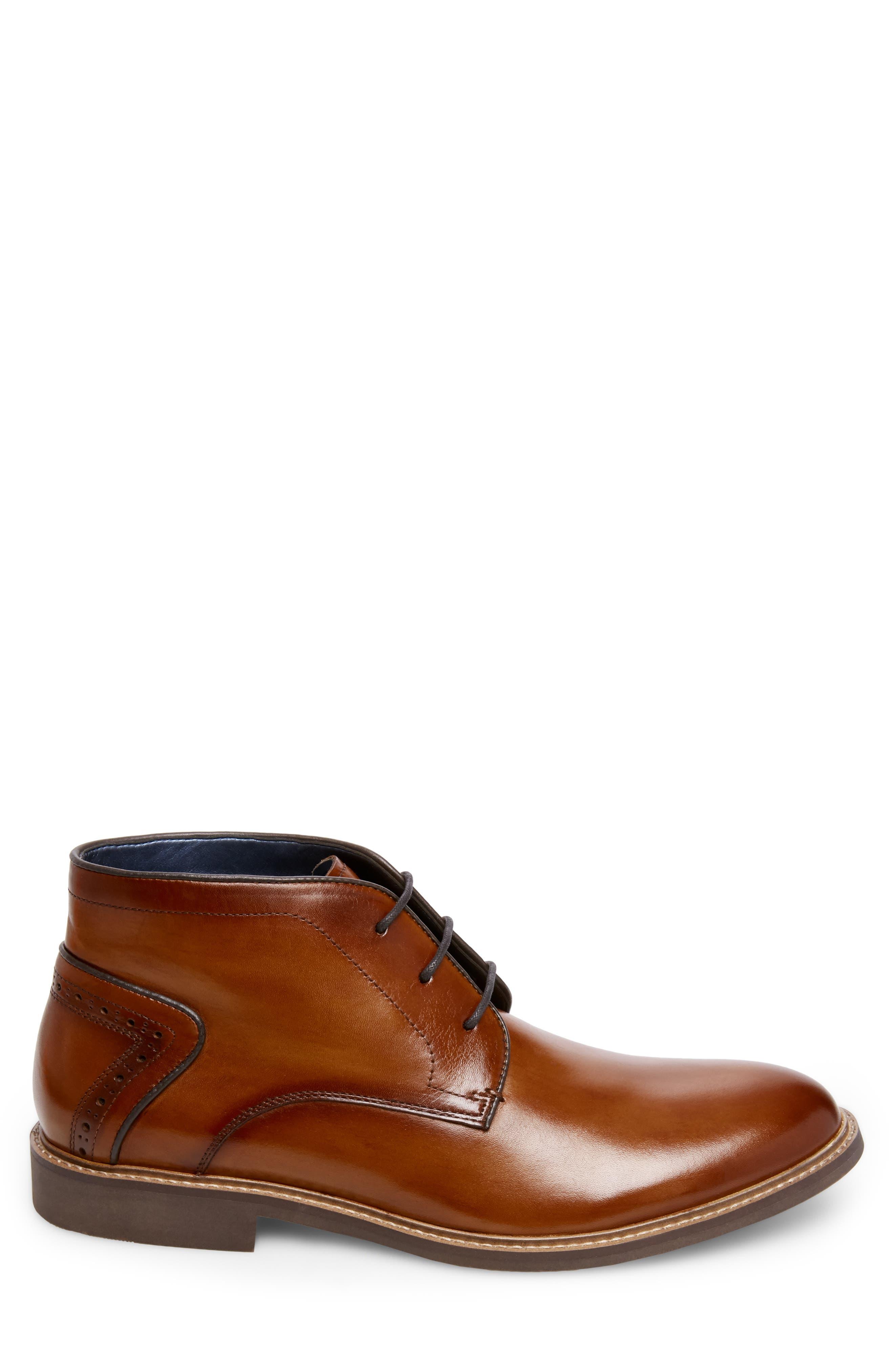 Backster Plain Toe Chukka Boot,                             Alternate thumbnail 3, color,                             COGNAC LEATHER