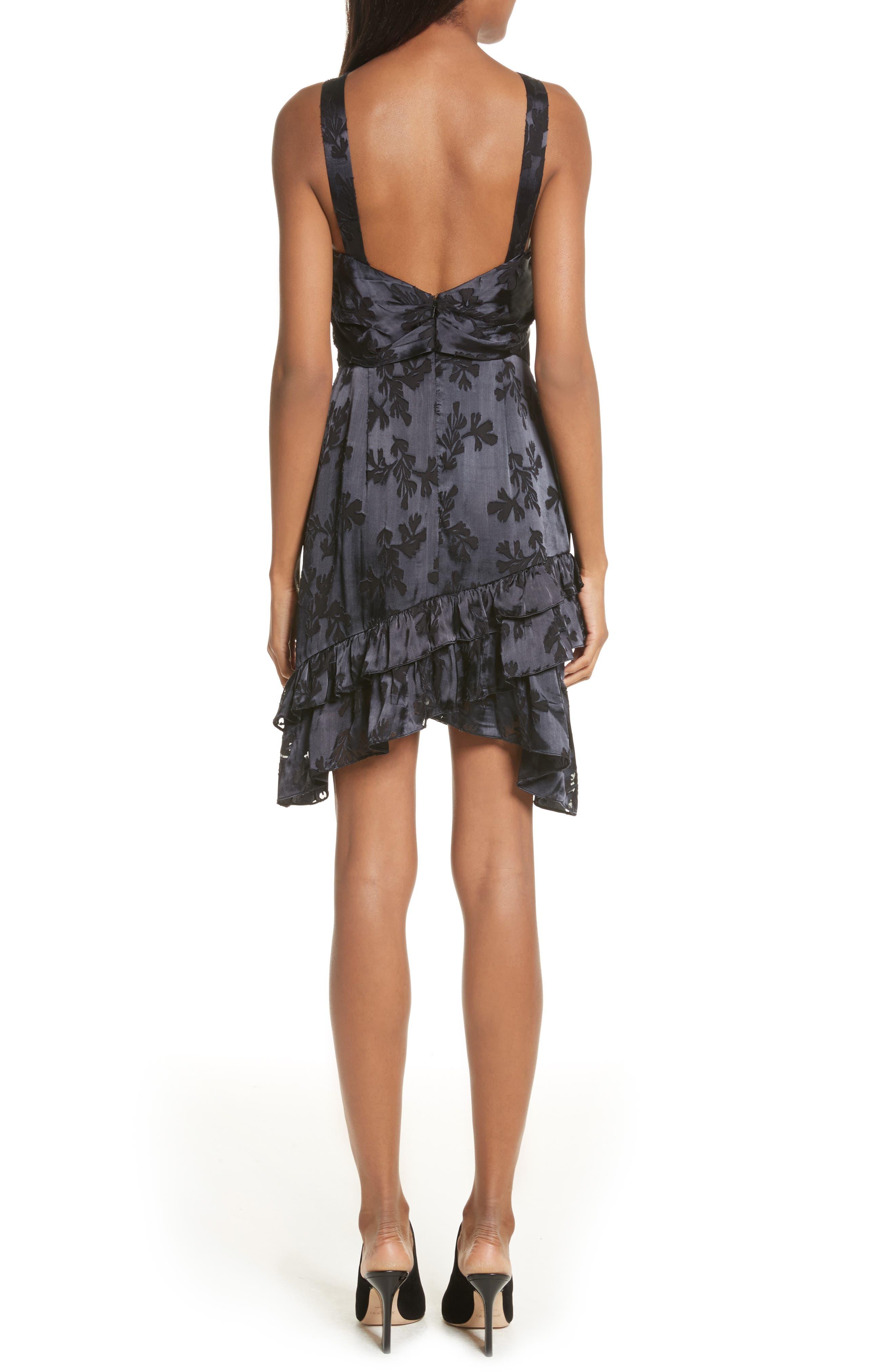 Burnout Silk Satin Dress,                             Alternate thumbnail 2, color,