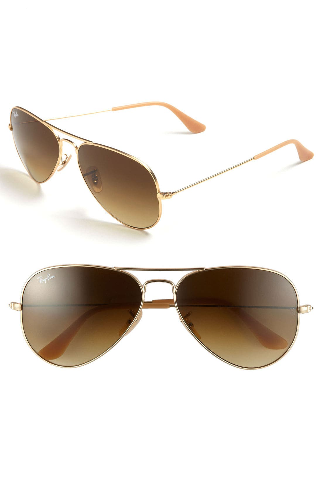 Standard Original 58mm Aviator Sunglasses,                         Main,                         color, BROWN