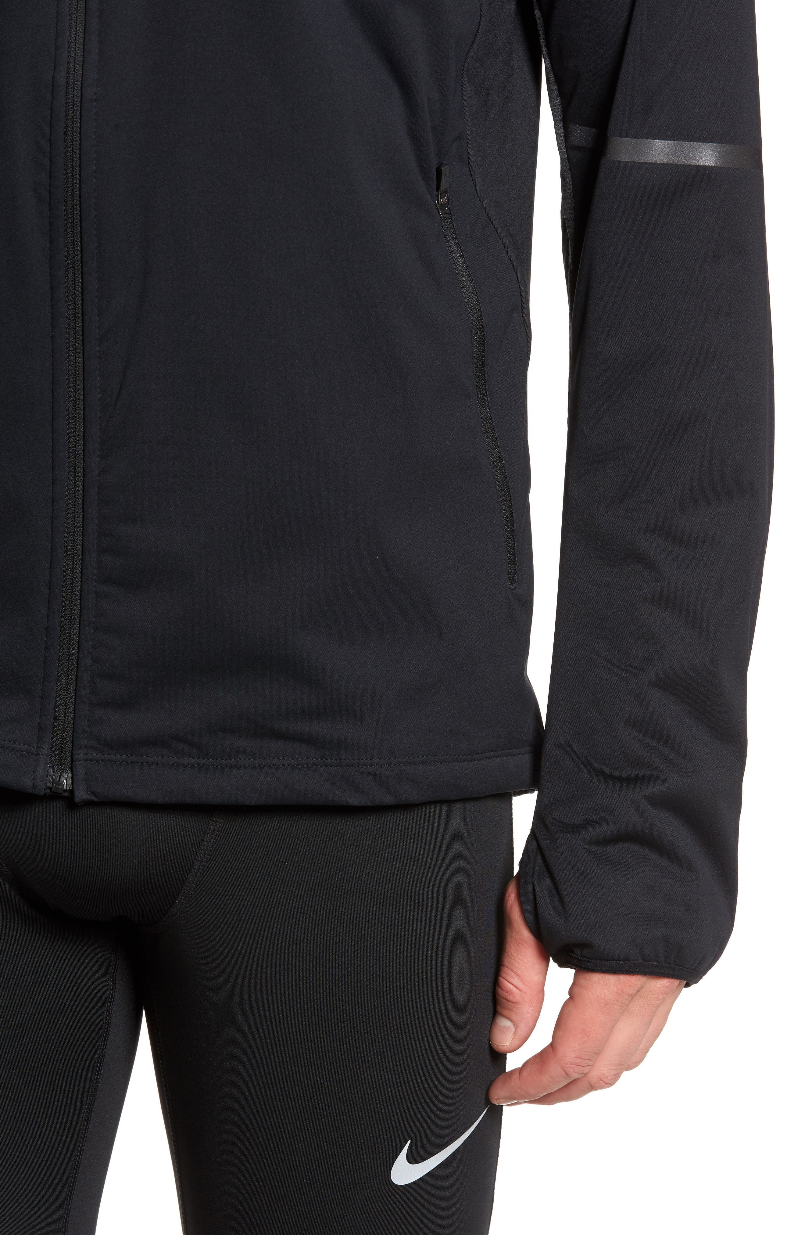 NIKE,                             Shield Max Running Jacket,                             Alternate thumbnail 4, color,                             010