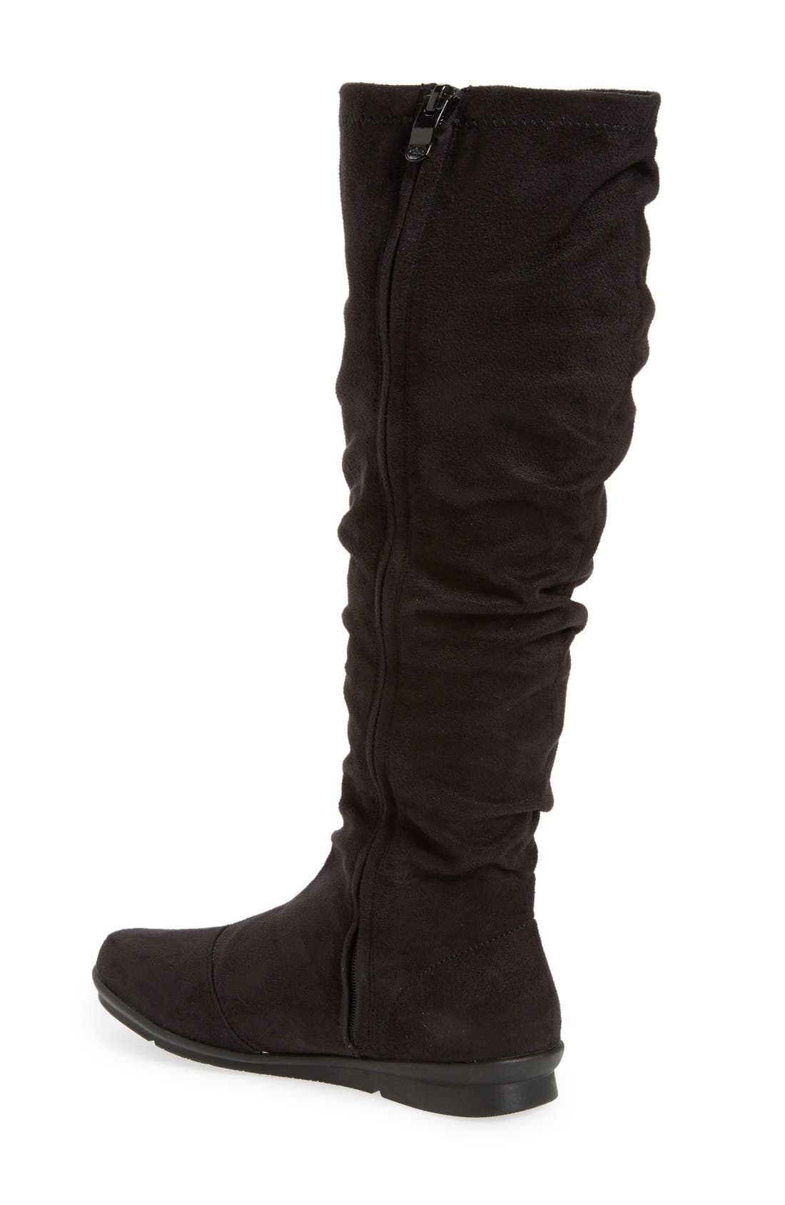 BUSSOLA,                             'Creta' Water Resistant Slouchy Knee-High Boot,                             Alternate thumbnail 3, color,                             001