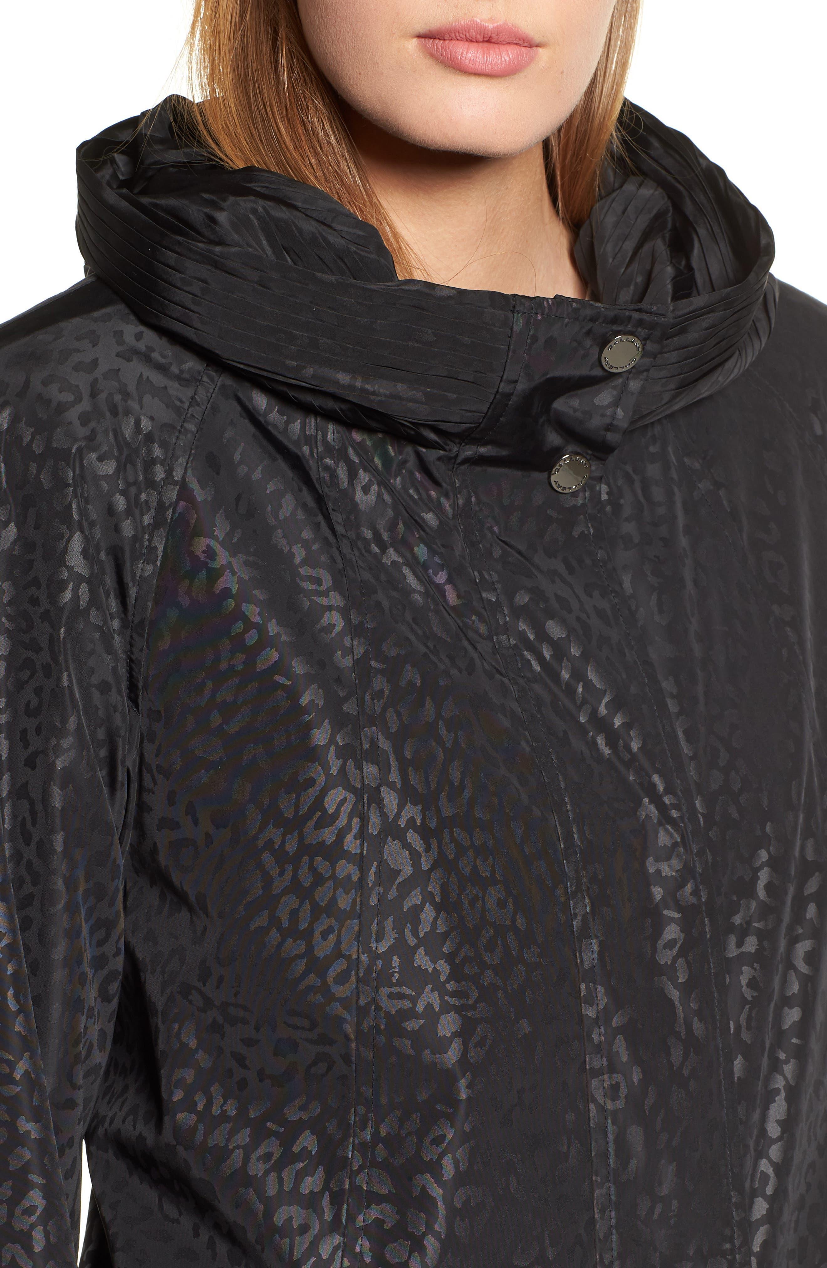 GALLERY,                             Pleated Collar Raincoat,                             Alternate thumbnail 5, color,                             200