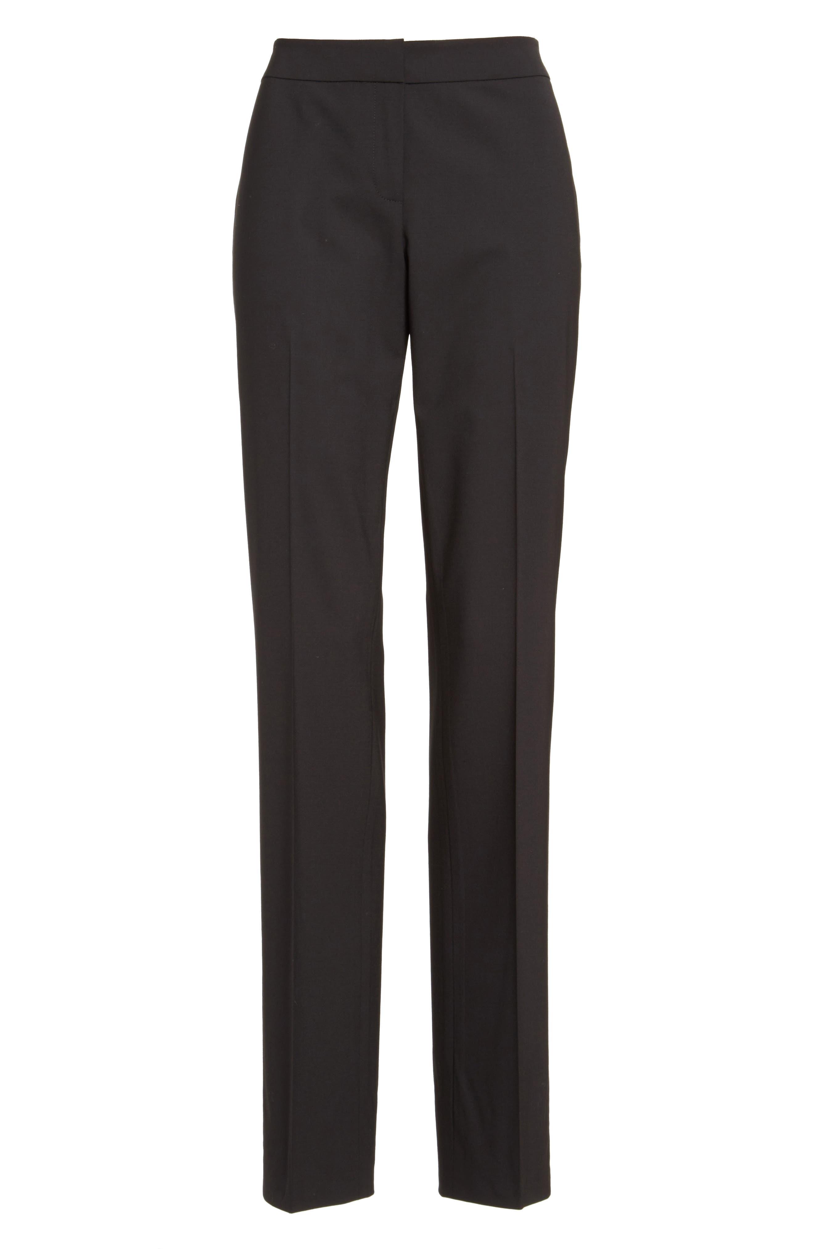 Barrow Stretch Wool Pants,                             Alternate thumbnail 6, color,                             BLACK