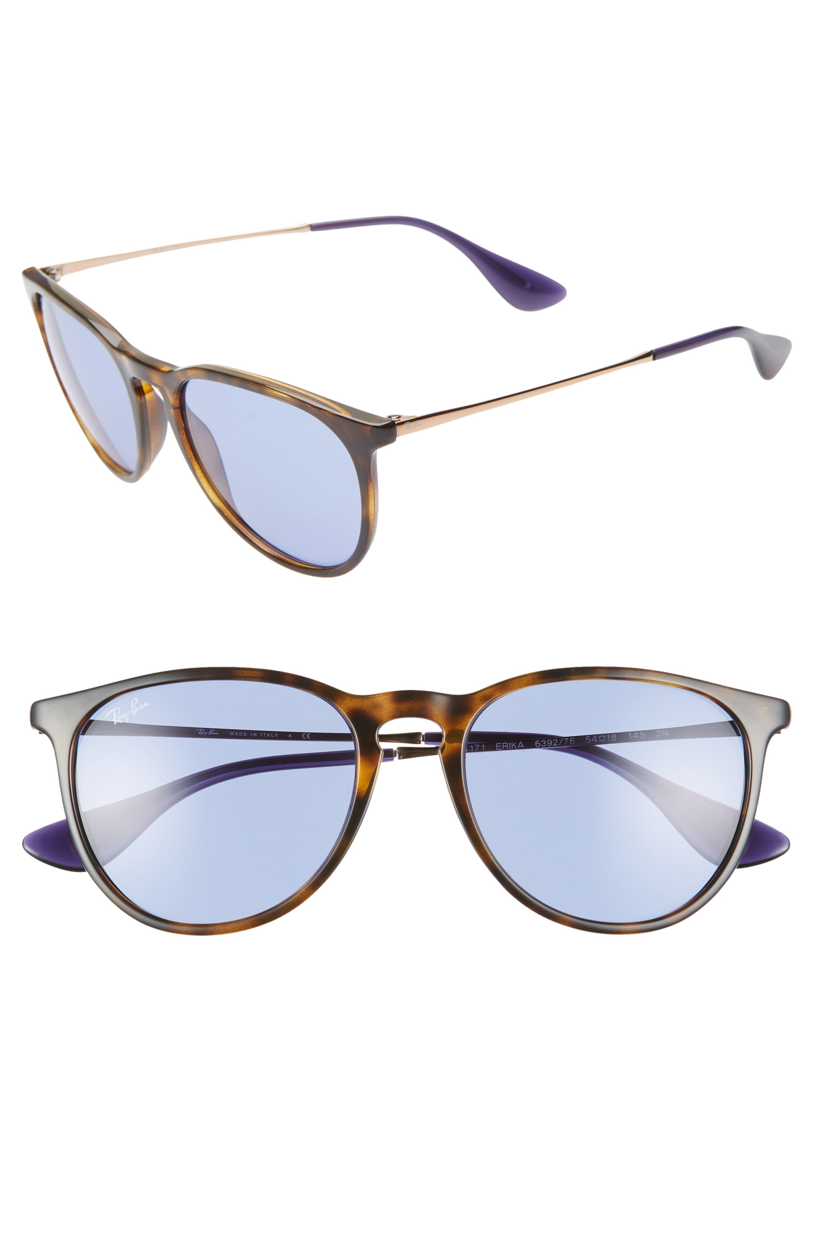 Ray-Ban Erika Classic 5m Sunglasses - Tortoise/ Blue Solid
