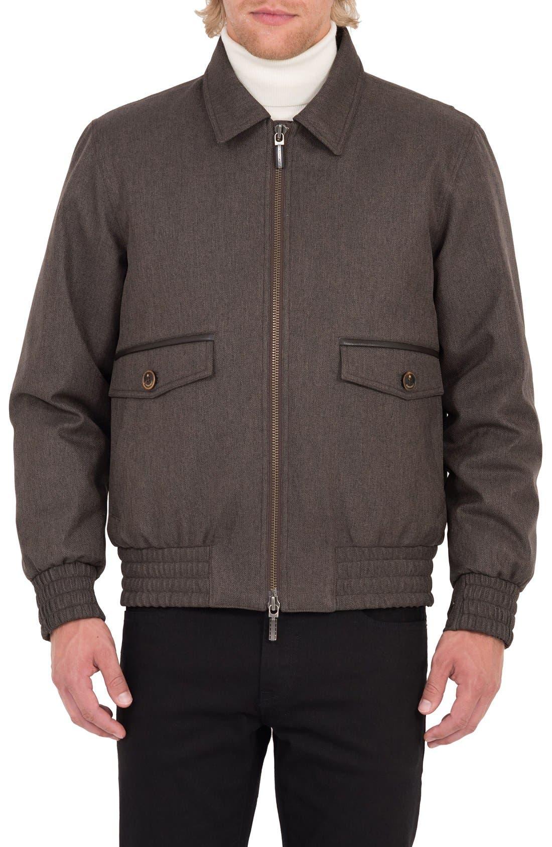 Wainwright Waterproof Twill Bomber Jacket,                         Main,                         color,