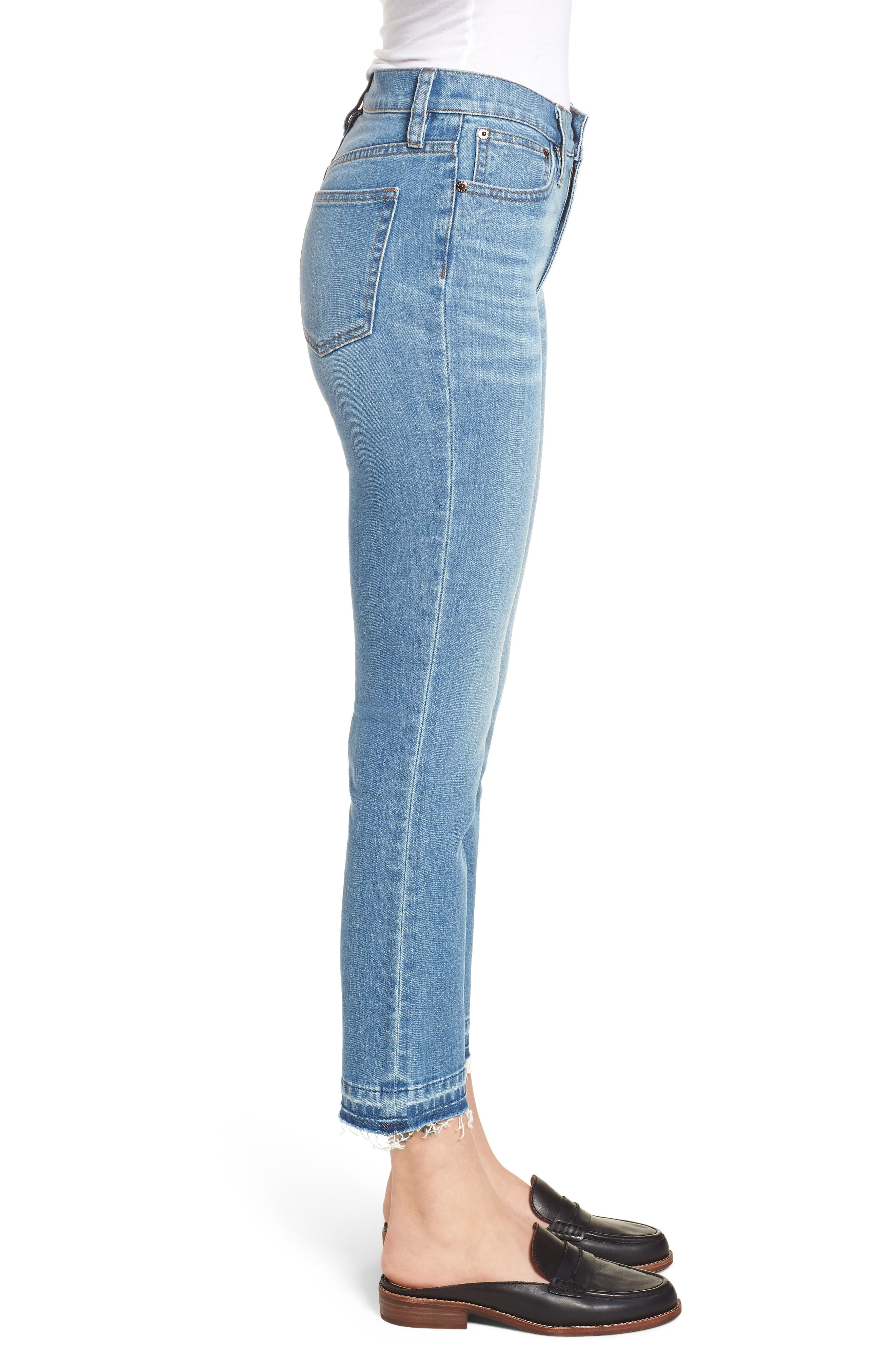 Billie Demi Boot Crop Jeans,                             Alternate thumbnail 3, color,                             400