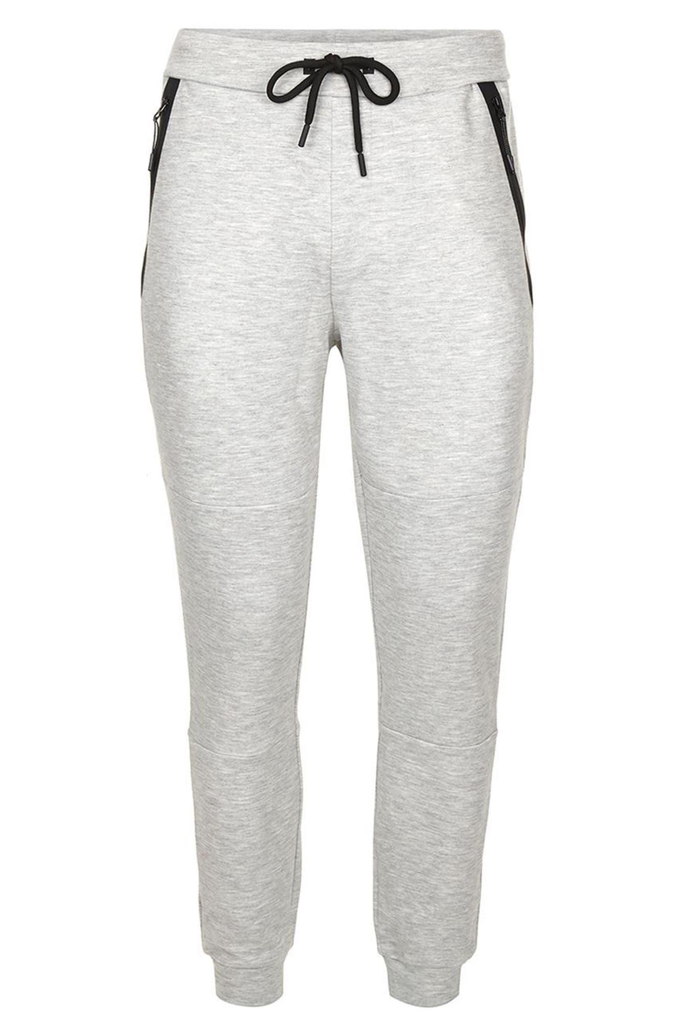Zip Detail Skinny Jogger Pants,                             Alternate thumbnail 4, color,                             020