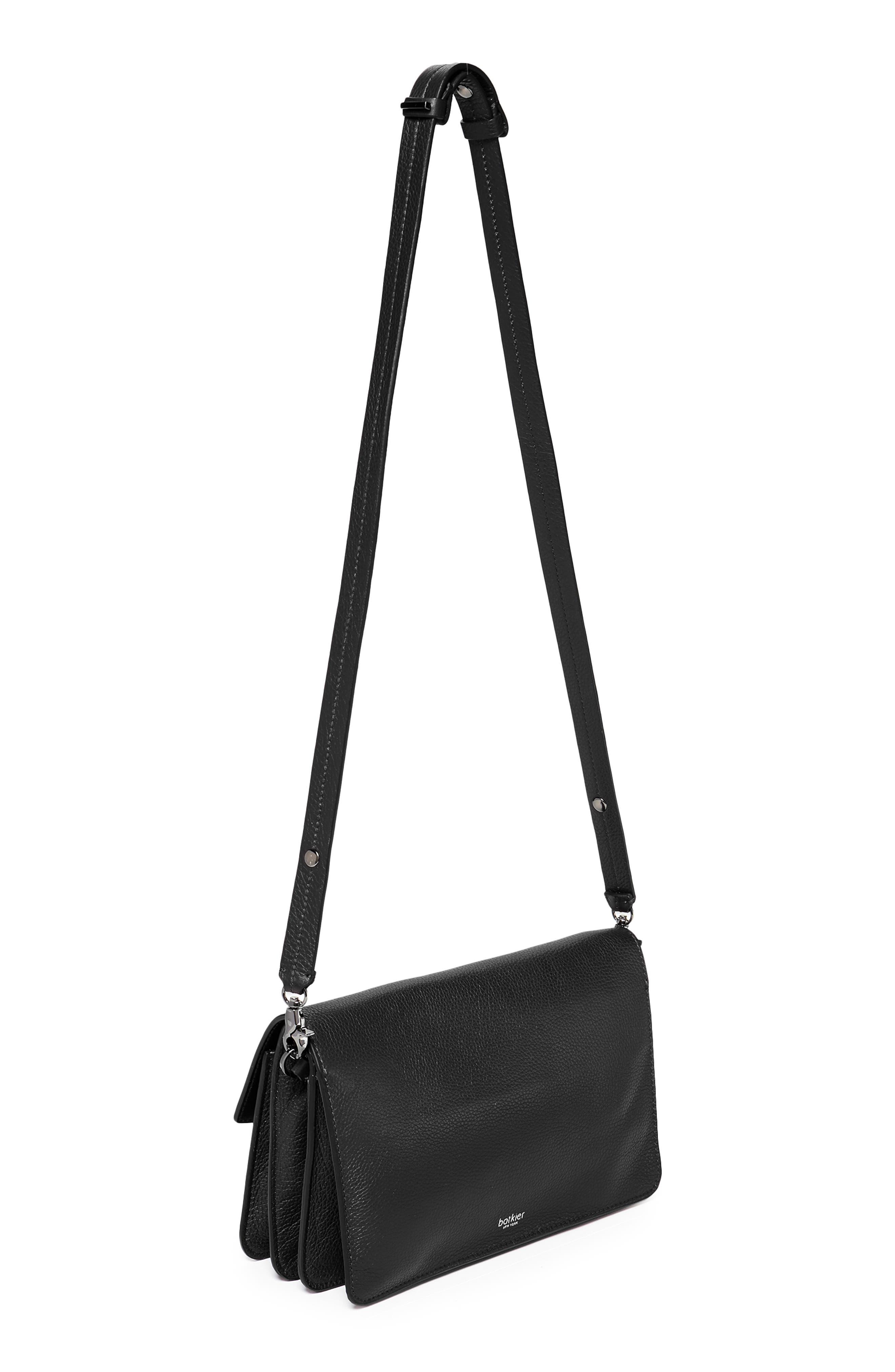Cobble Hill Leather Shoulder Bag,                             Alternate thumbnail 2, color,                             BLACK