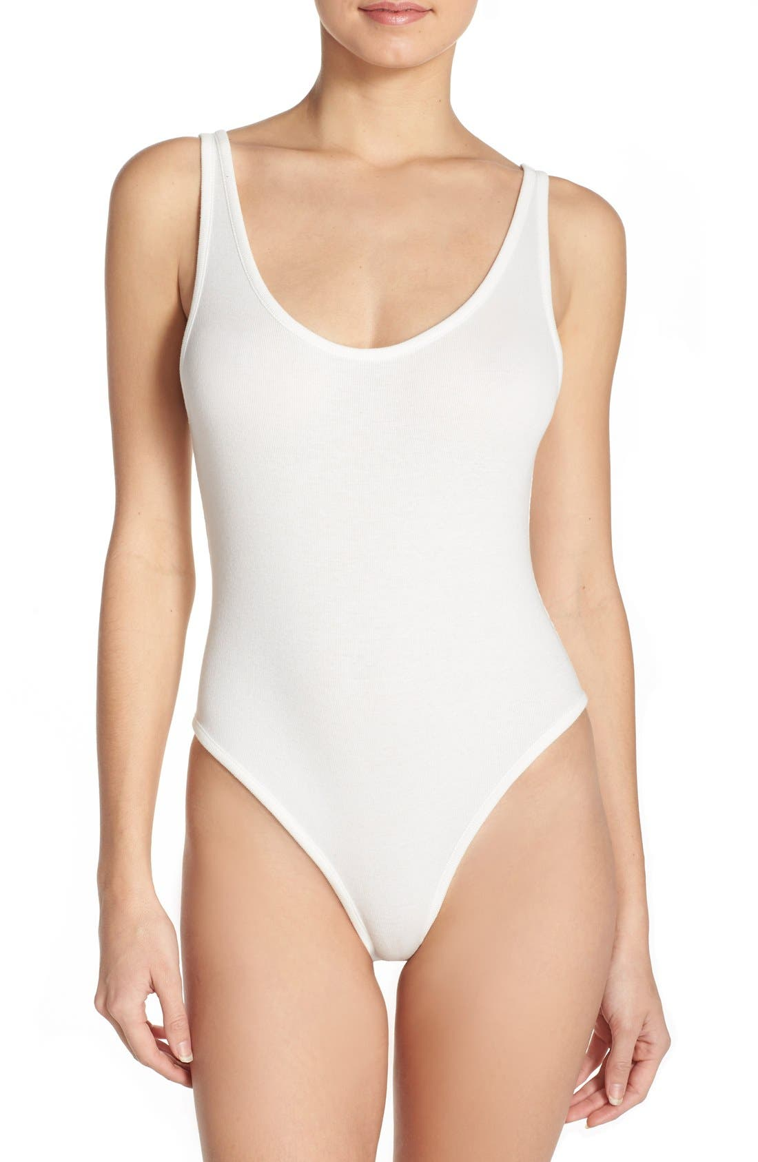 Intimately FP Stretch Cotton Leotard Bodysuit,                         Main,                         color, 900